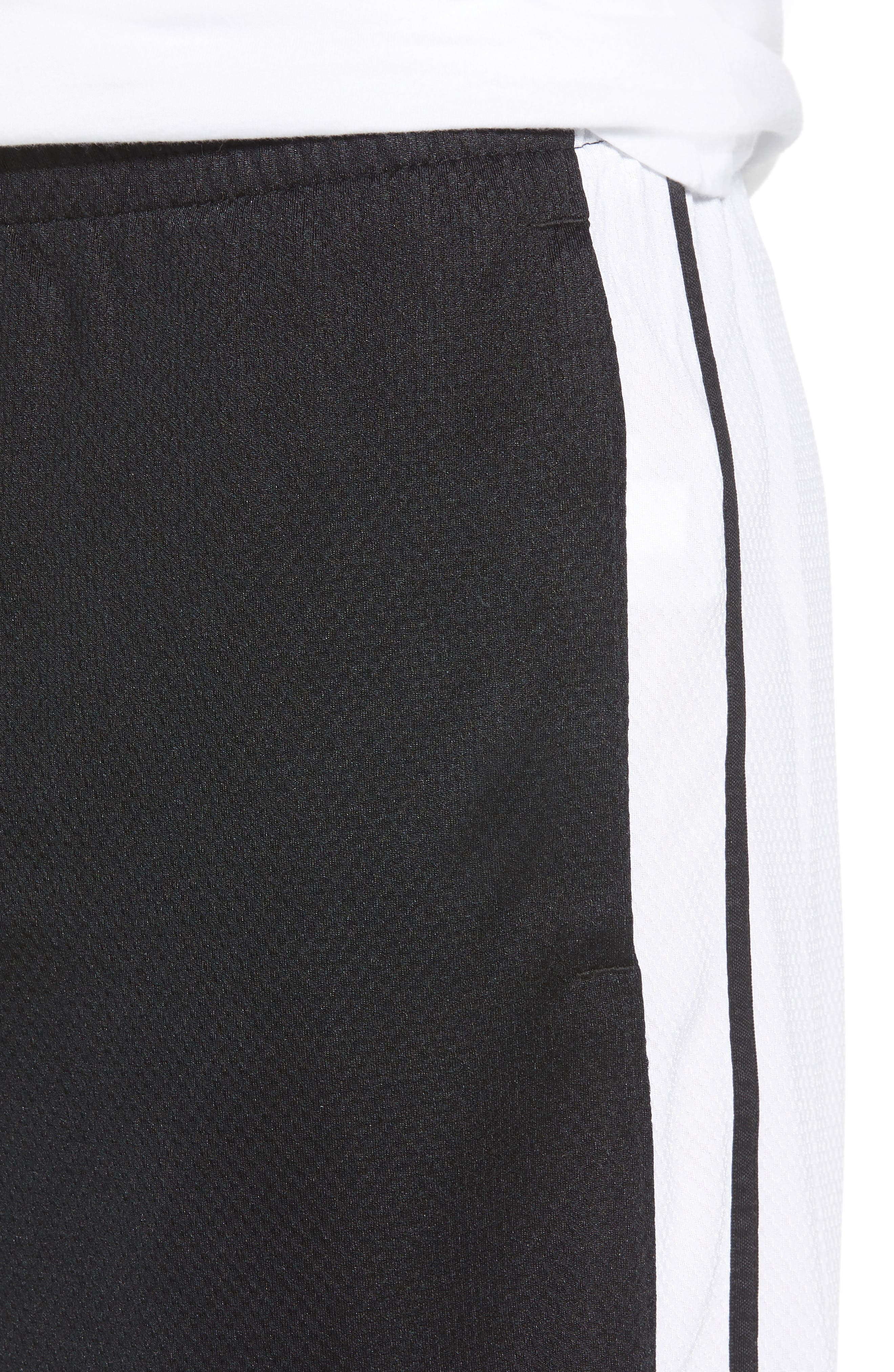 Rise Shorts,                             Alternate thumbnail 4, color,                             WHITE/ BLACK/ BLACK