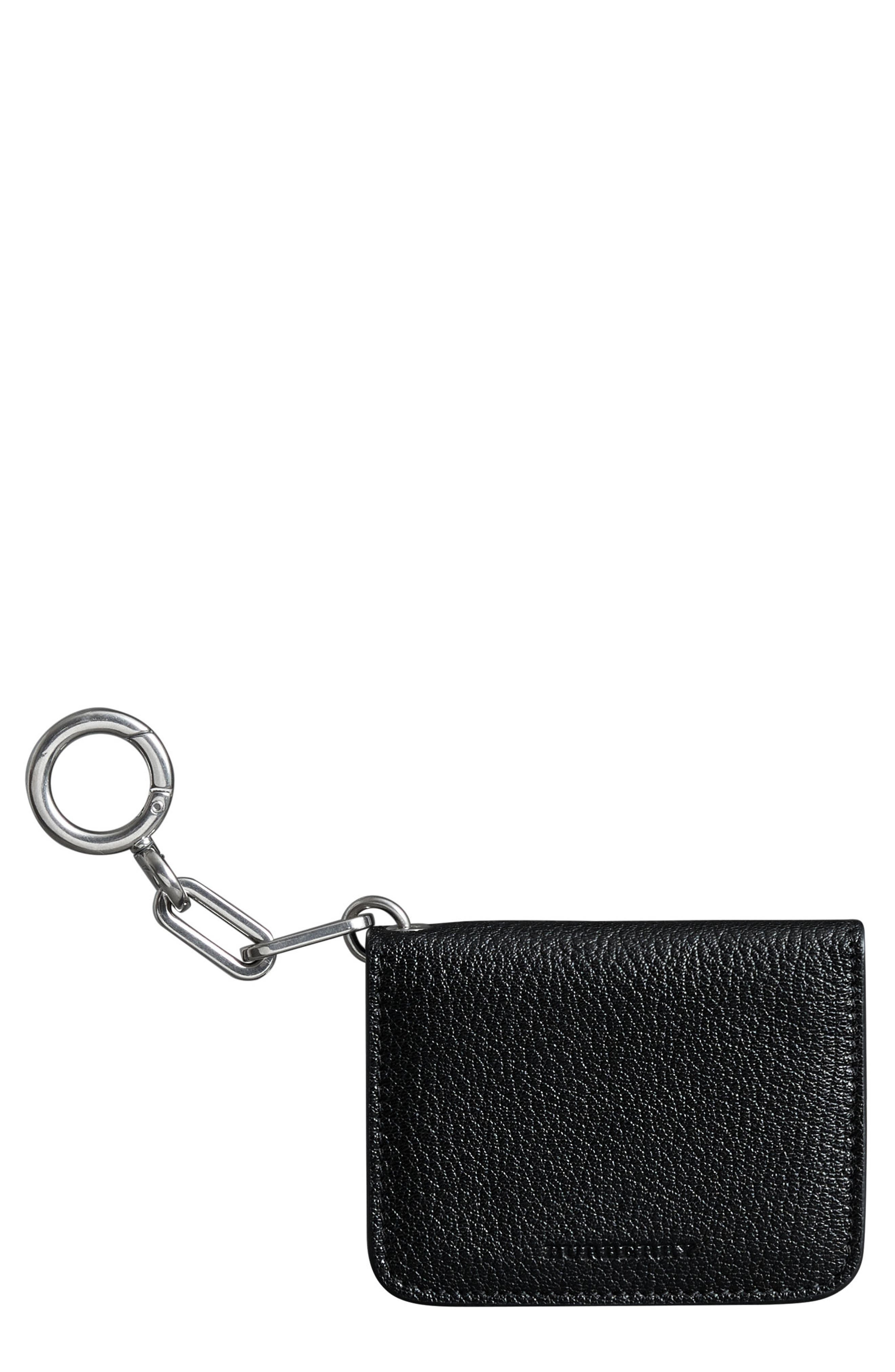 Camberwell Leather ID & Card Case,                             Main thumbnail 1, color,                             BLACK