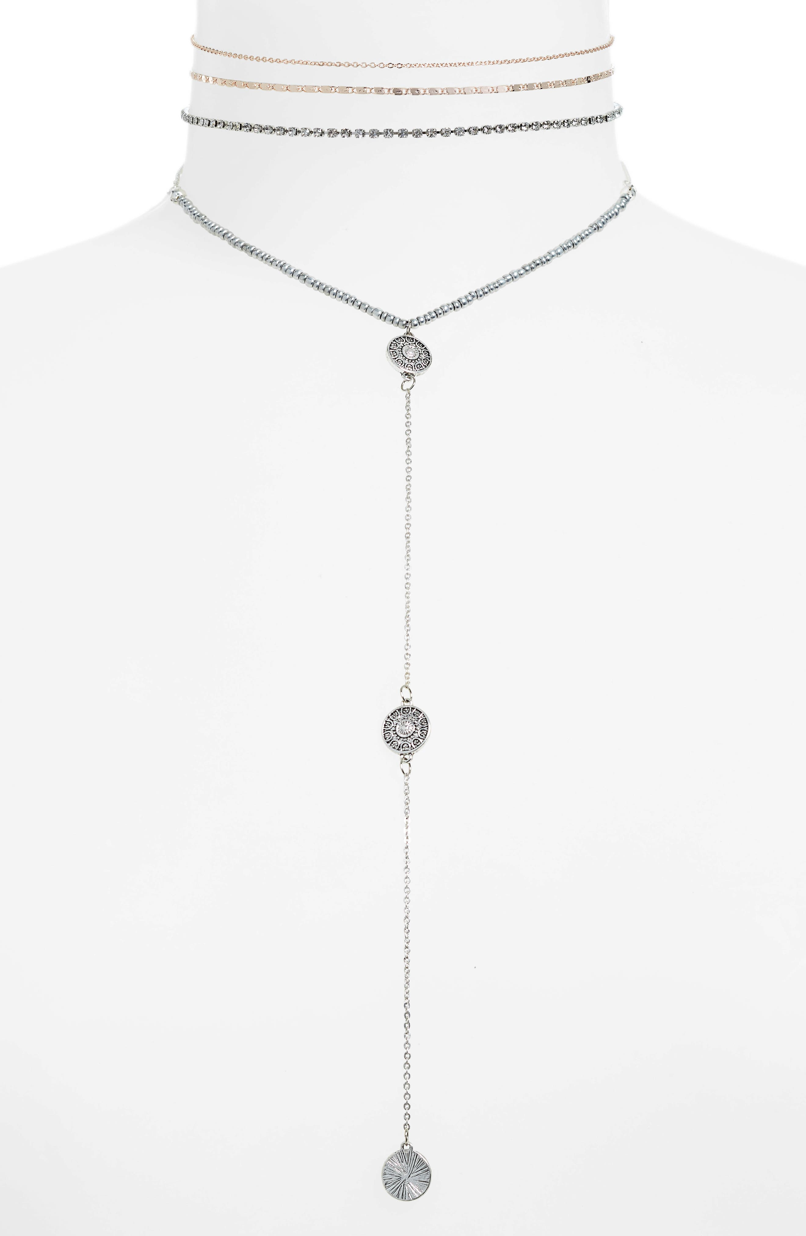 4-Pack Choker Necklaces,                             Main thumbnail 1, color,                             440