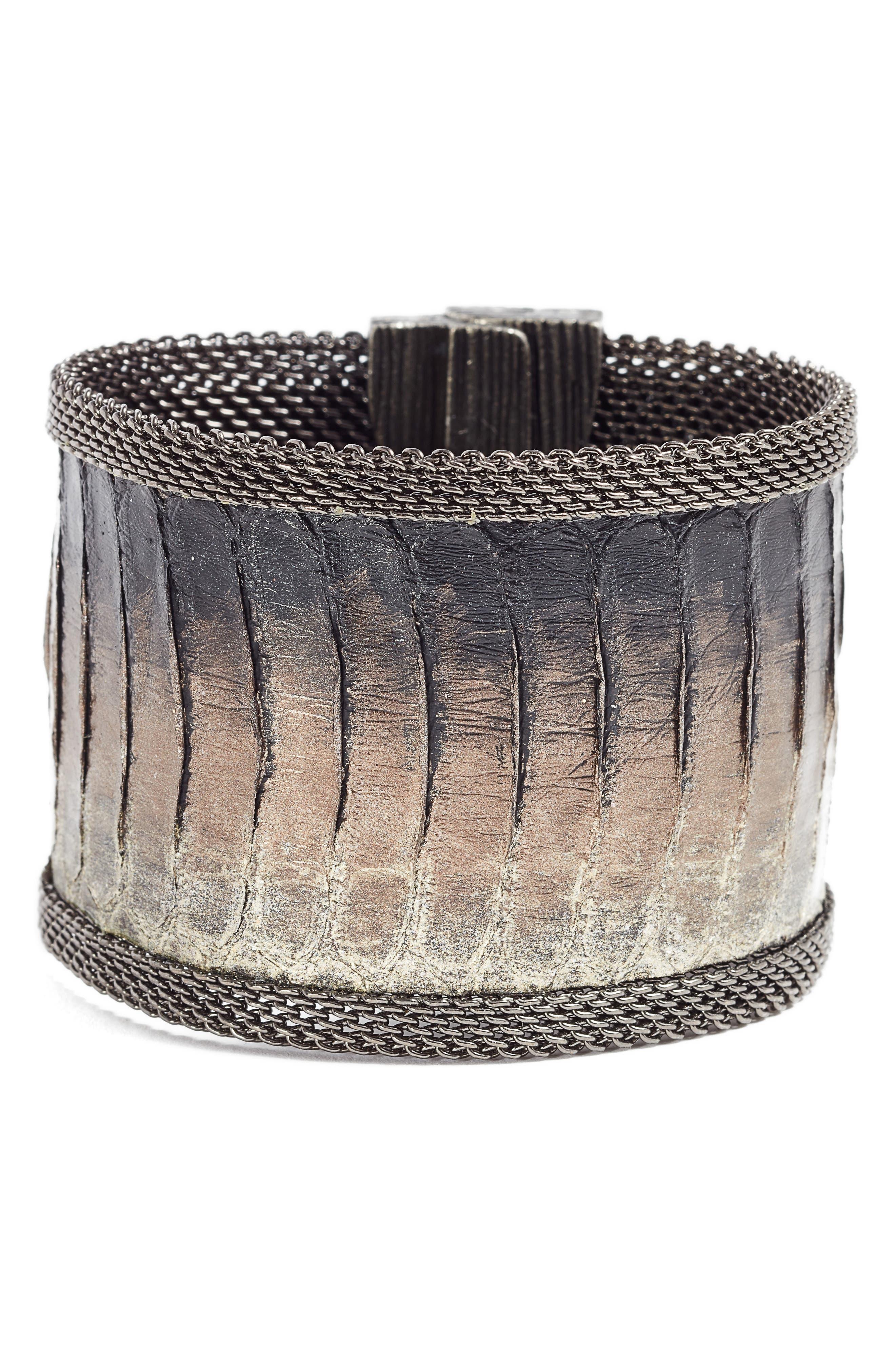 Snakeskin Bracelet,                             Main thumbnail 1, color,                             001