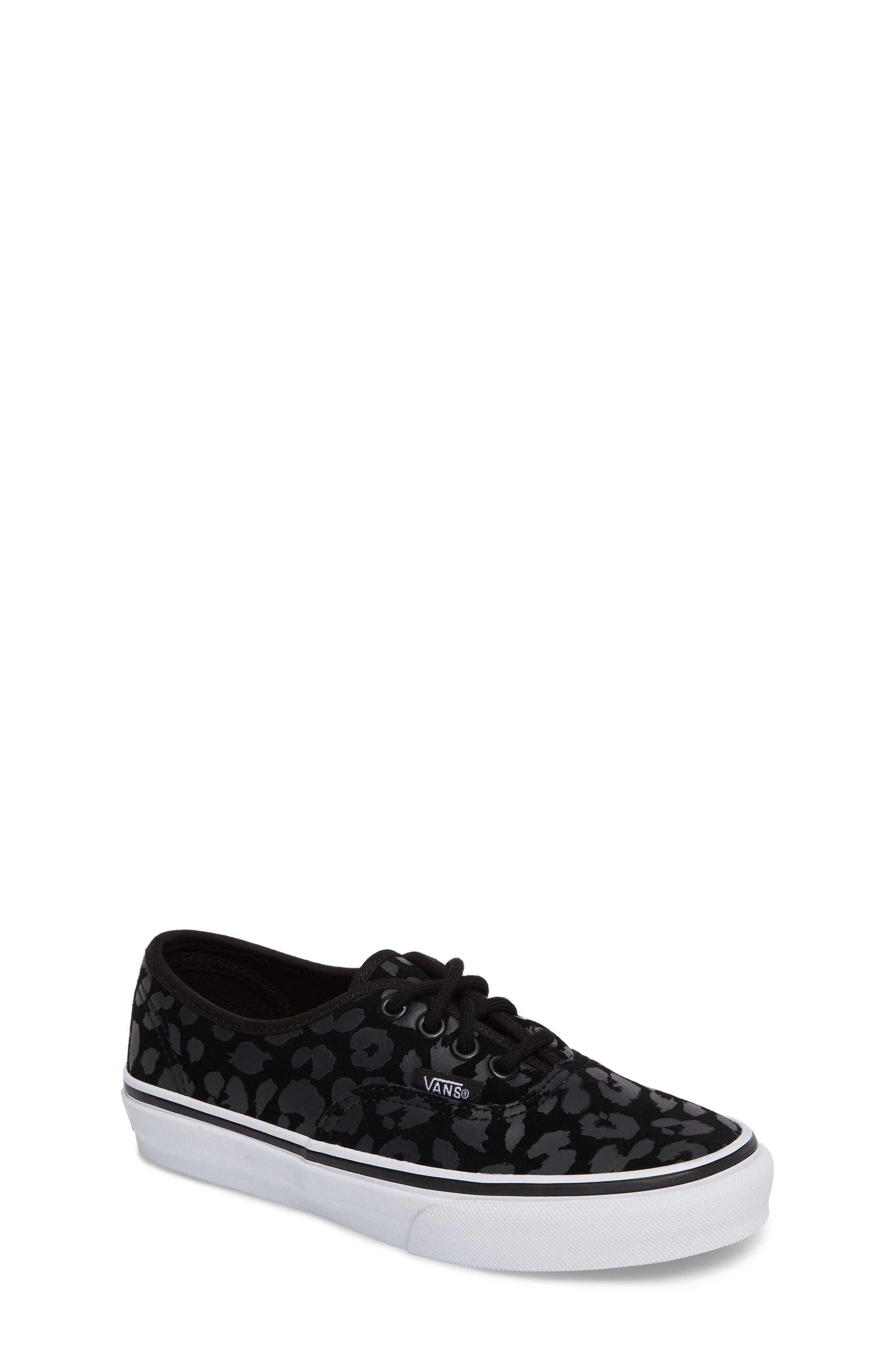 Authentic Leopard Print Sneaker,                         Main,                         color, 001