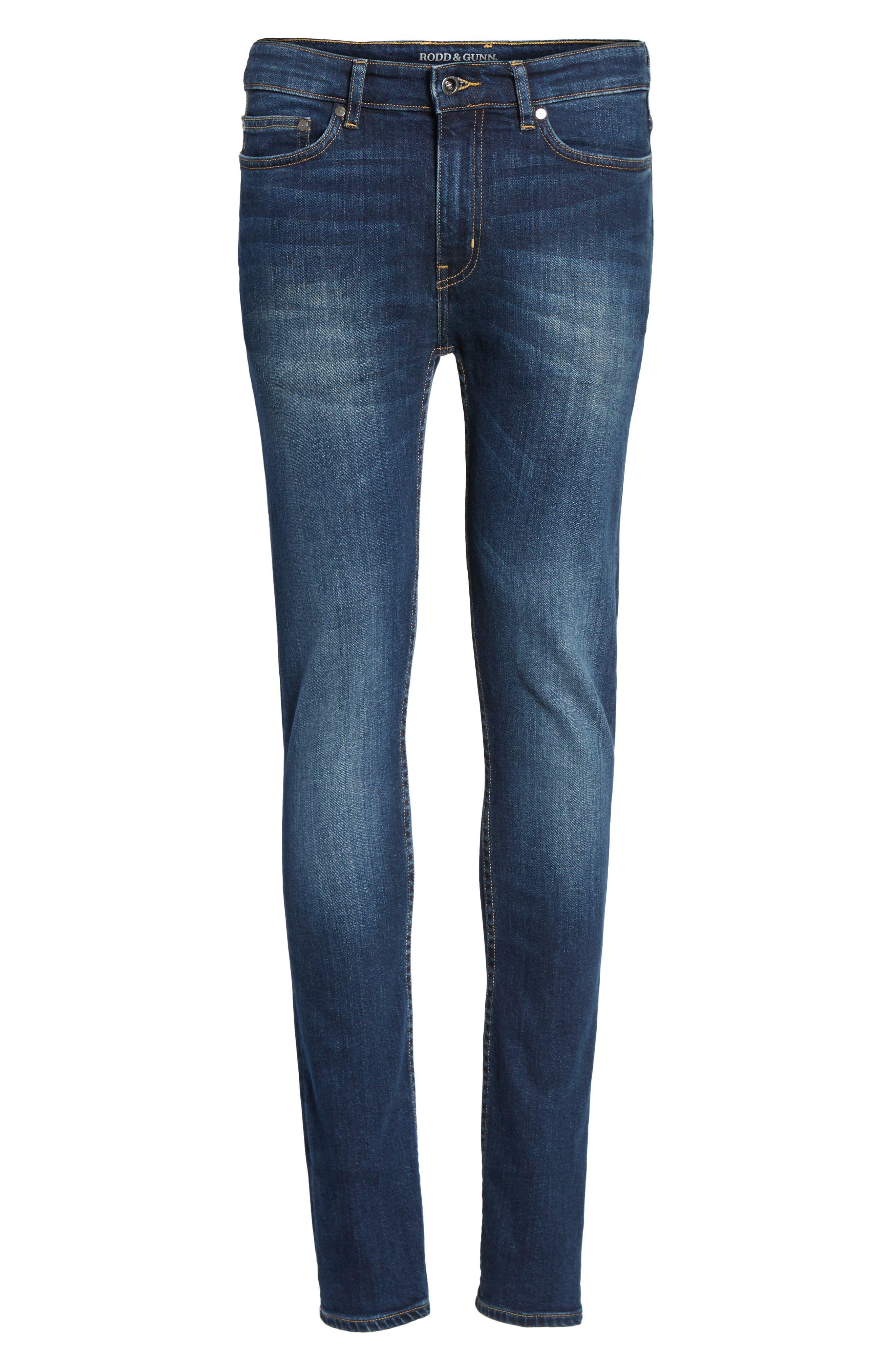 Derbyshire Slim Fit Jeans,                             Alternate thumbnail 6, color,                             DENIM