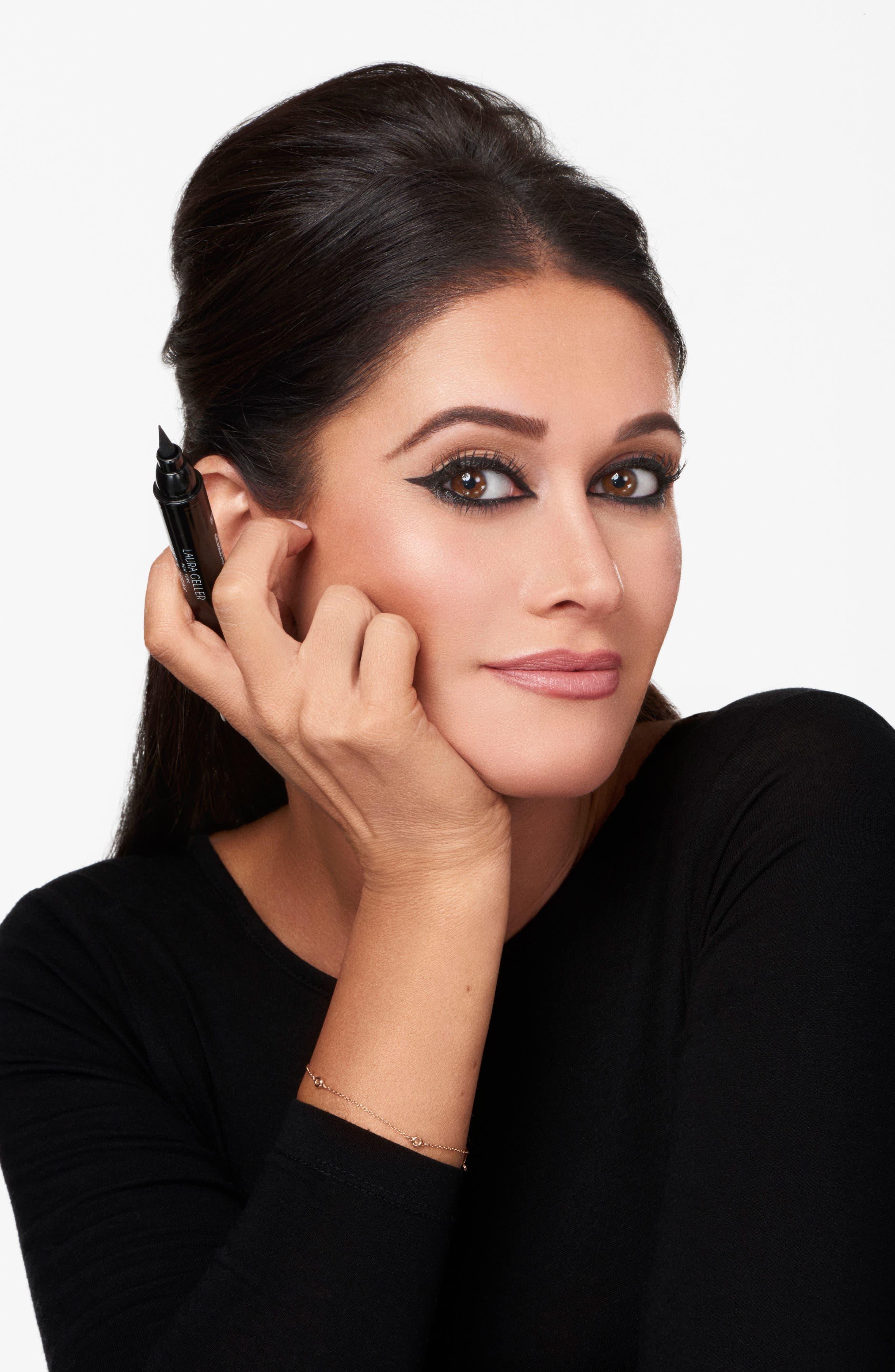 LAURA GELLER BEAUTY,                             Line-N-Define Dual Dimension Eyeliner,                             Alternate thumbnail 4, color,                             BLACK