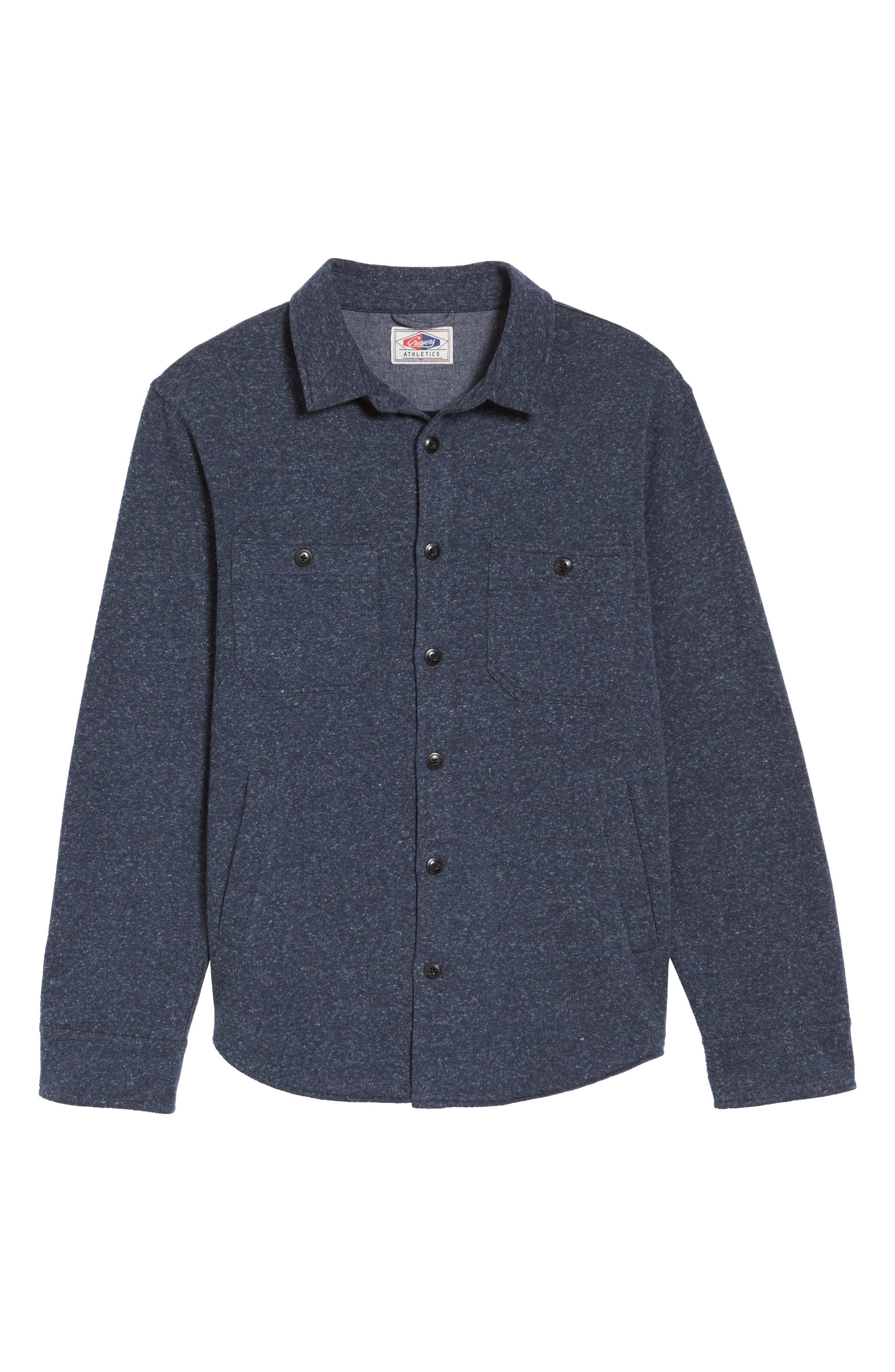 Bayswater Modern Fit Heathered Shirt Jacket,                             Alternate thumbnail 6, color,                             413
