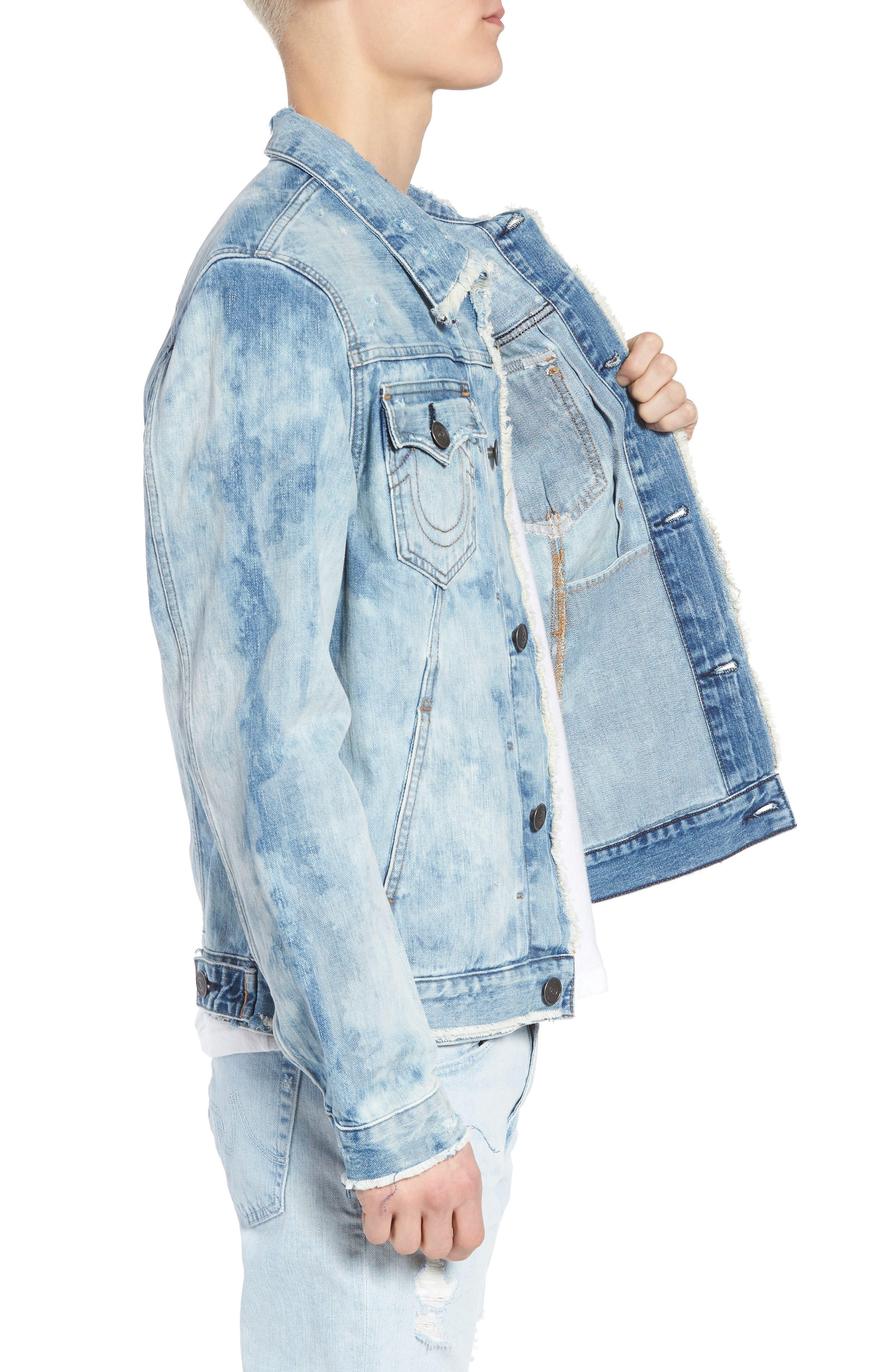 Dylan Denim Jacket,                             Alternate thumbnail 3, color,                             BLUE