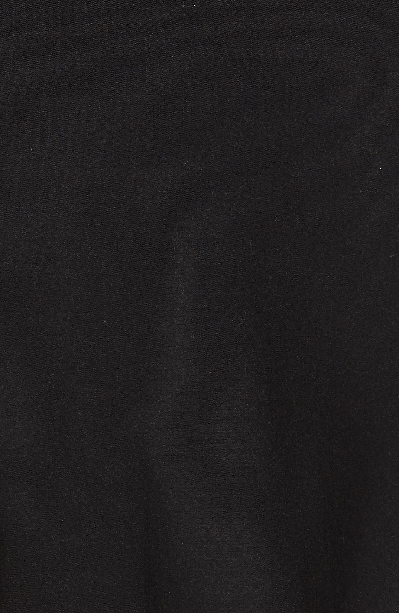 Stretch Cotton Poplin Shirtdress,                             Alternate thumbnail 6, color,                             001