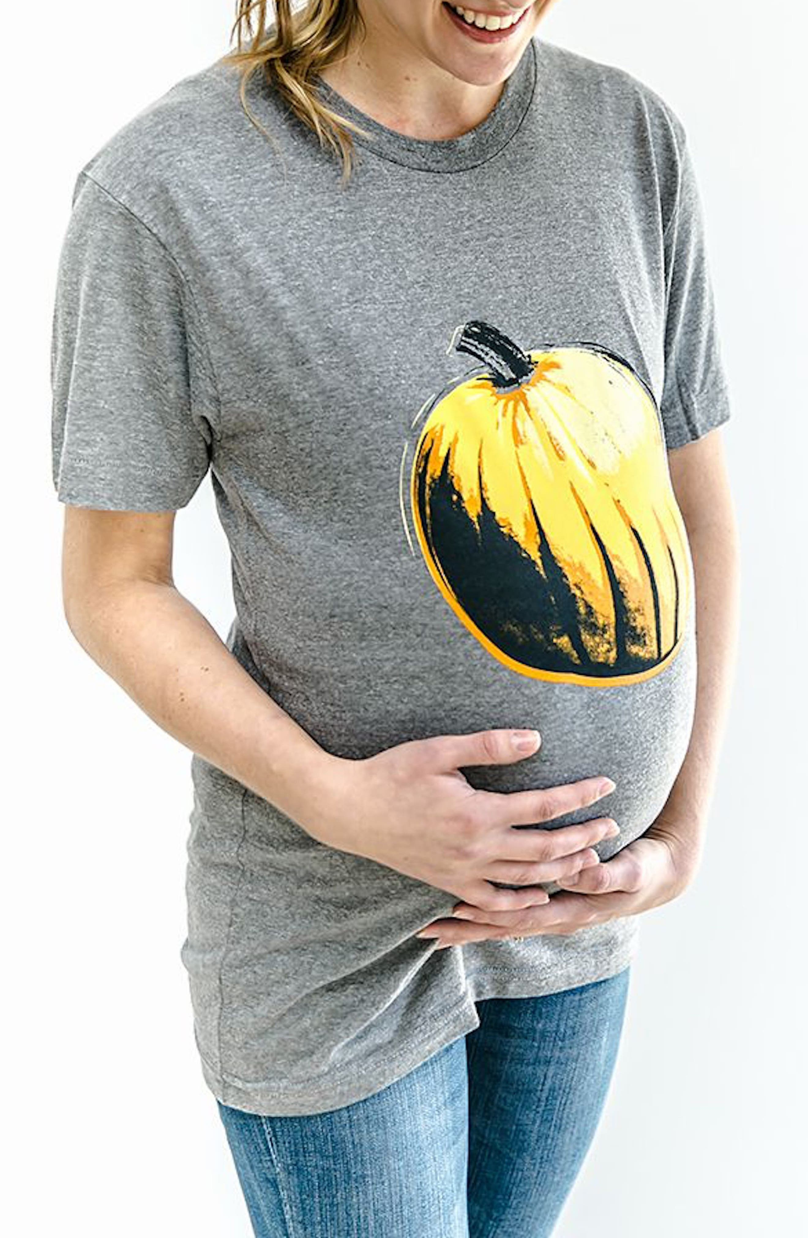 Third Trimester Pumpkin Maternity Tee,                         Main,                         color, 021