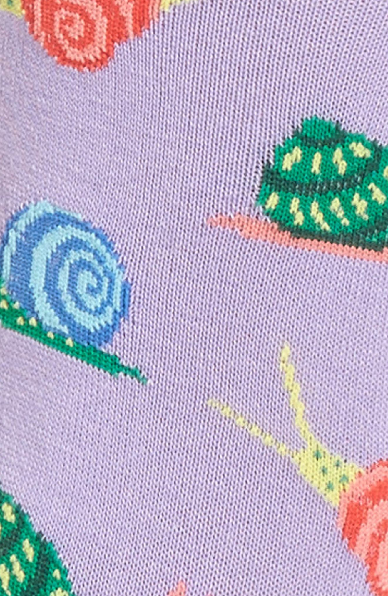 Snail Crew Socks,                             Alternate thumbnail 3, color,                             536