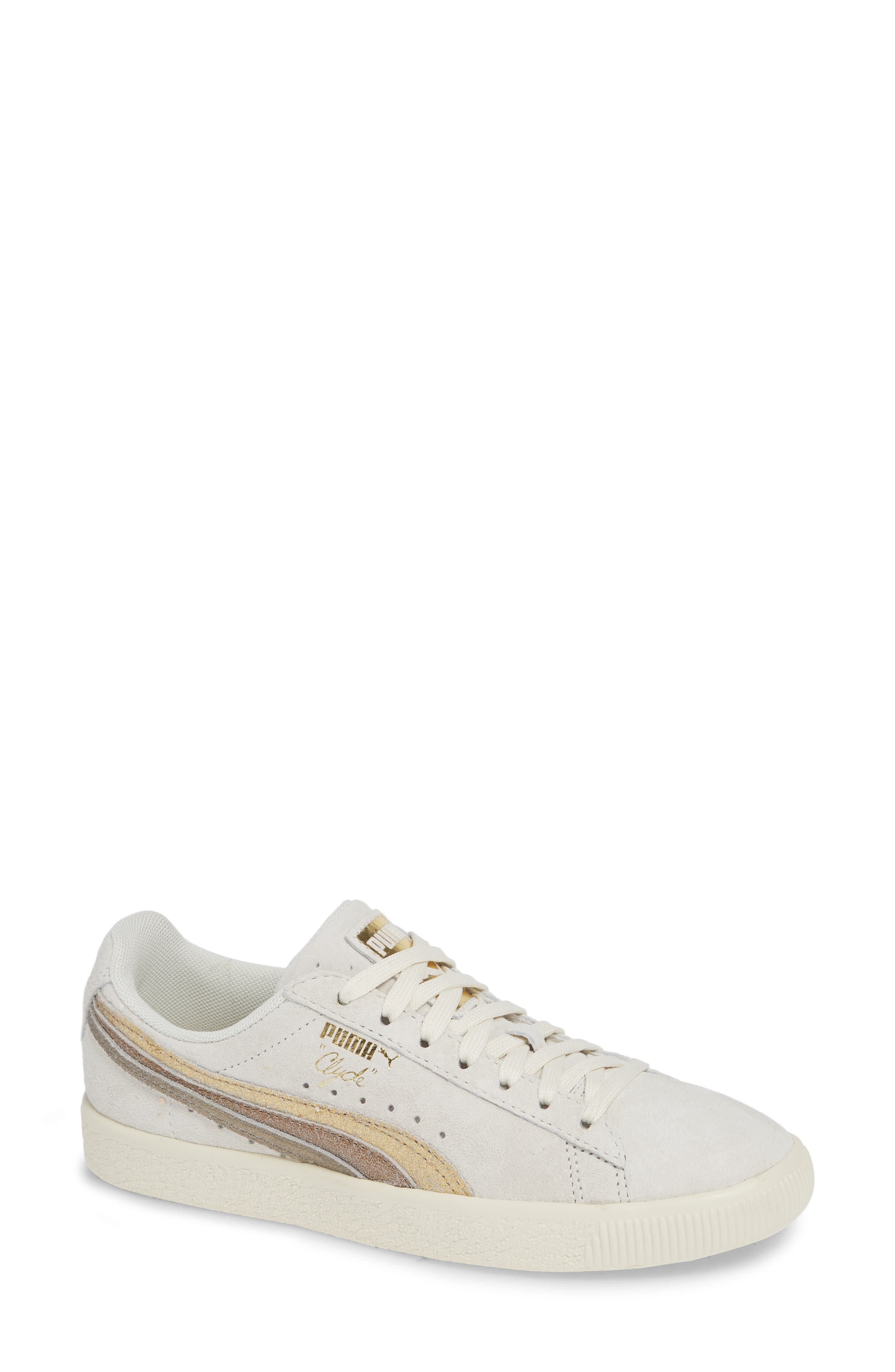 Clyde Sneaker,                         Main,                         color, WHITE