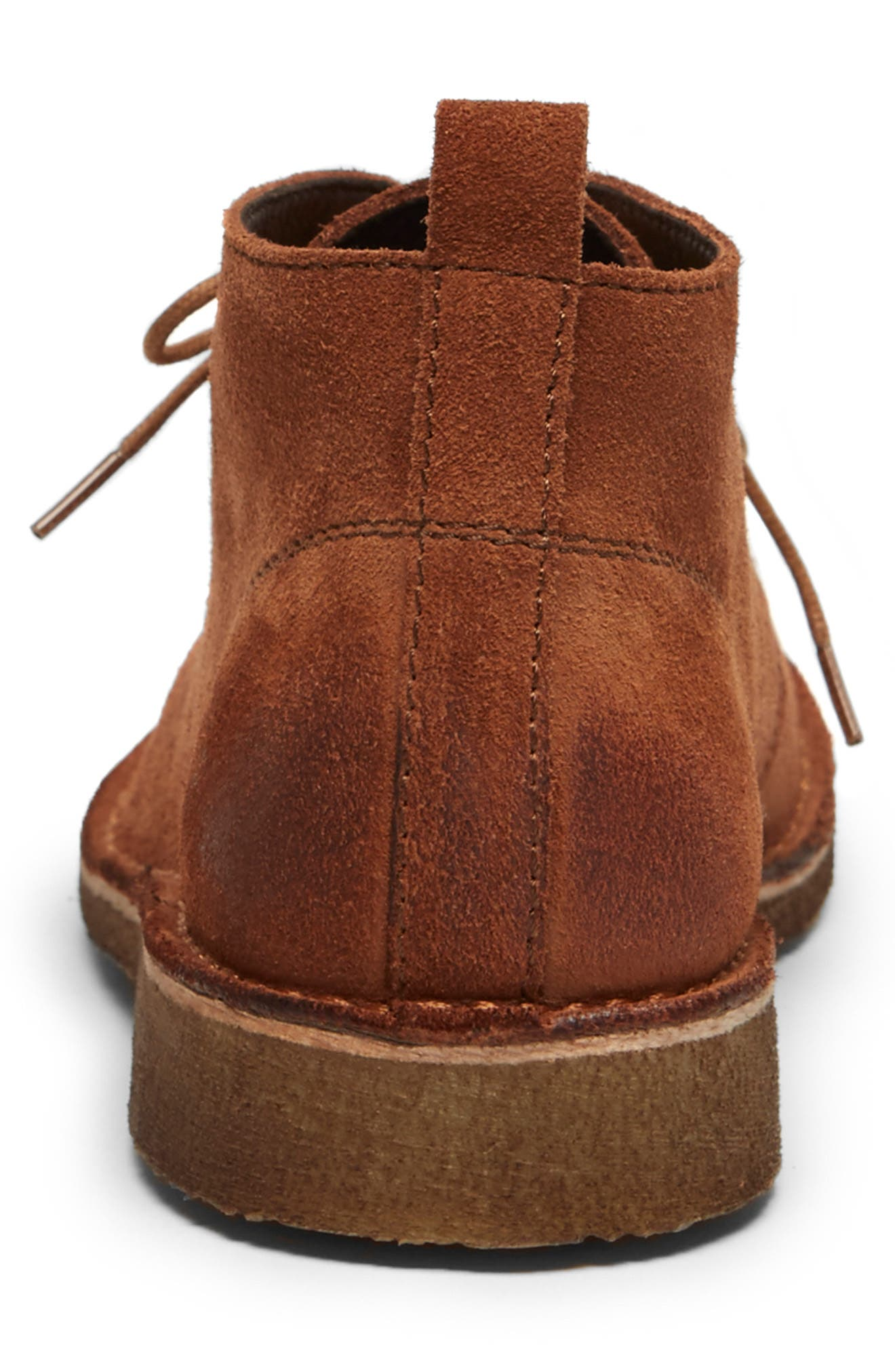 Hewitt Chukka Boot,                             Alternate thumbnail 3, color,                             RUST SUEDE