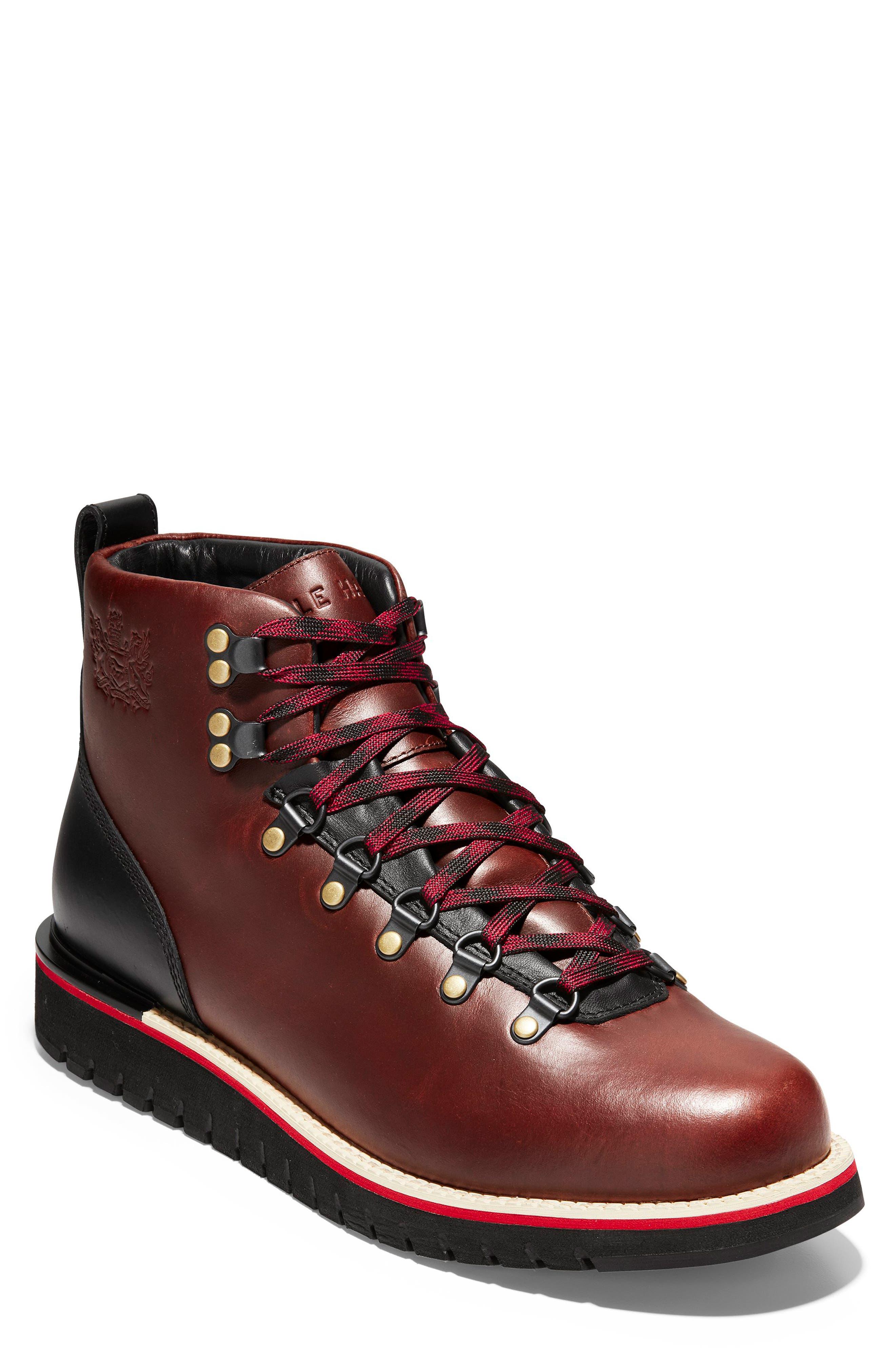 COLE HAAN Men'S Grandexplore Alpine Hiker Waterproof Boots Men'S Shoes in Dark Coffee