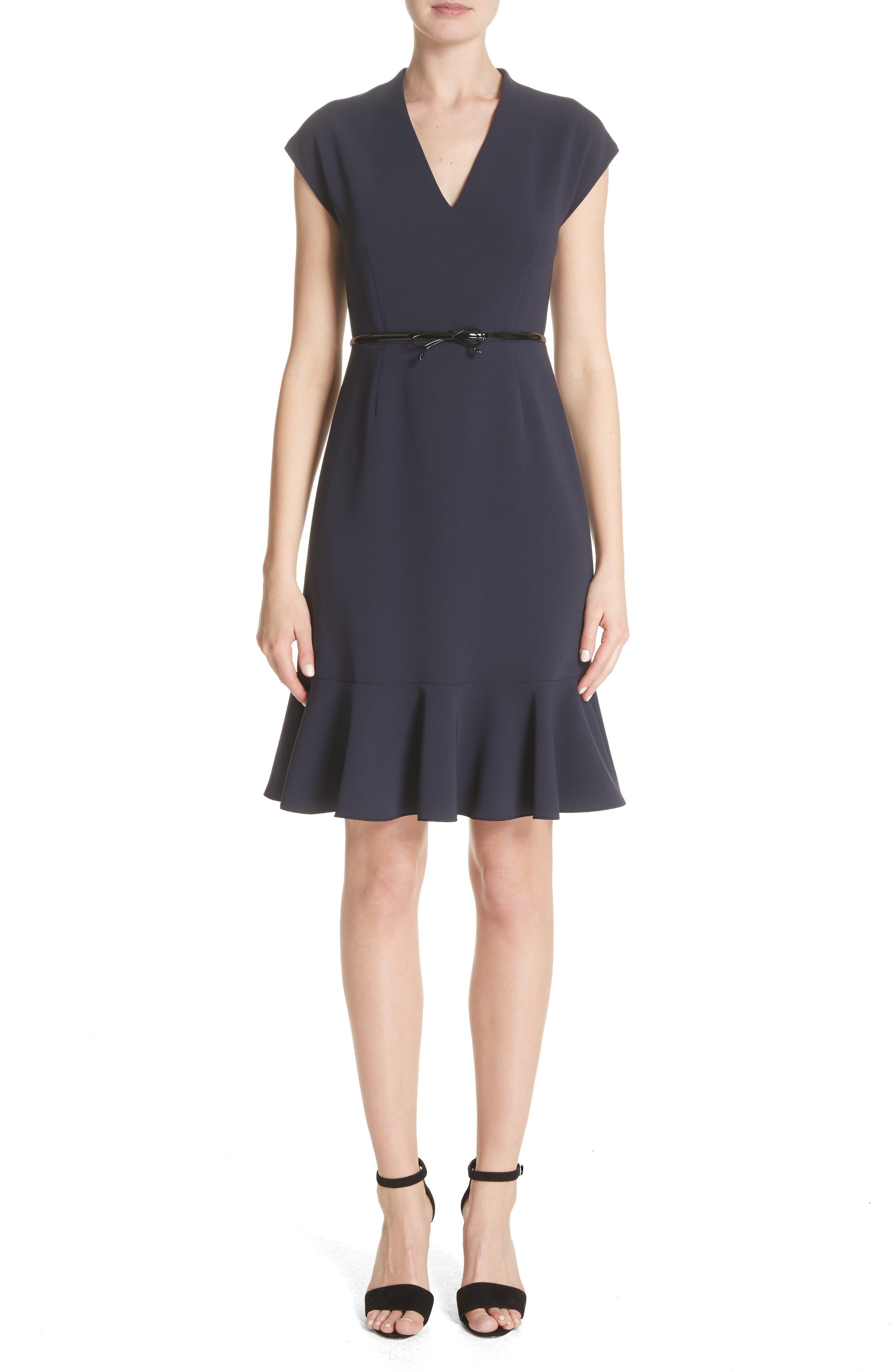 Porta Ruffle Hem Dress,                         Main,                         color, 410