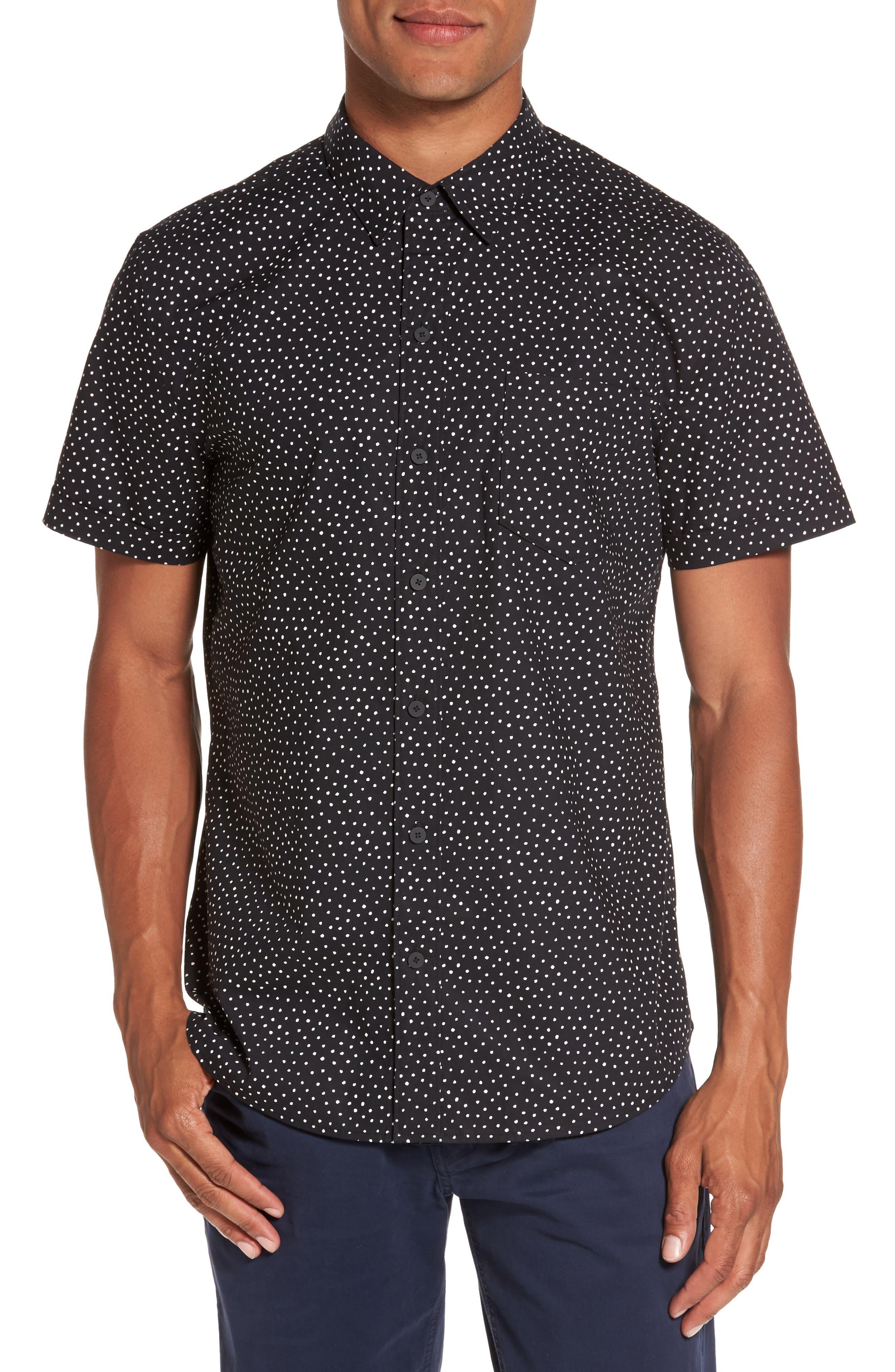 Becker Dot Print Woven Shirt,                         Main,                         color, 001