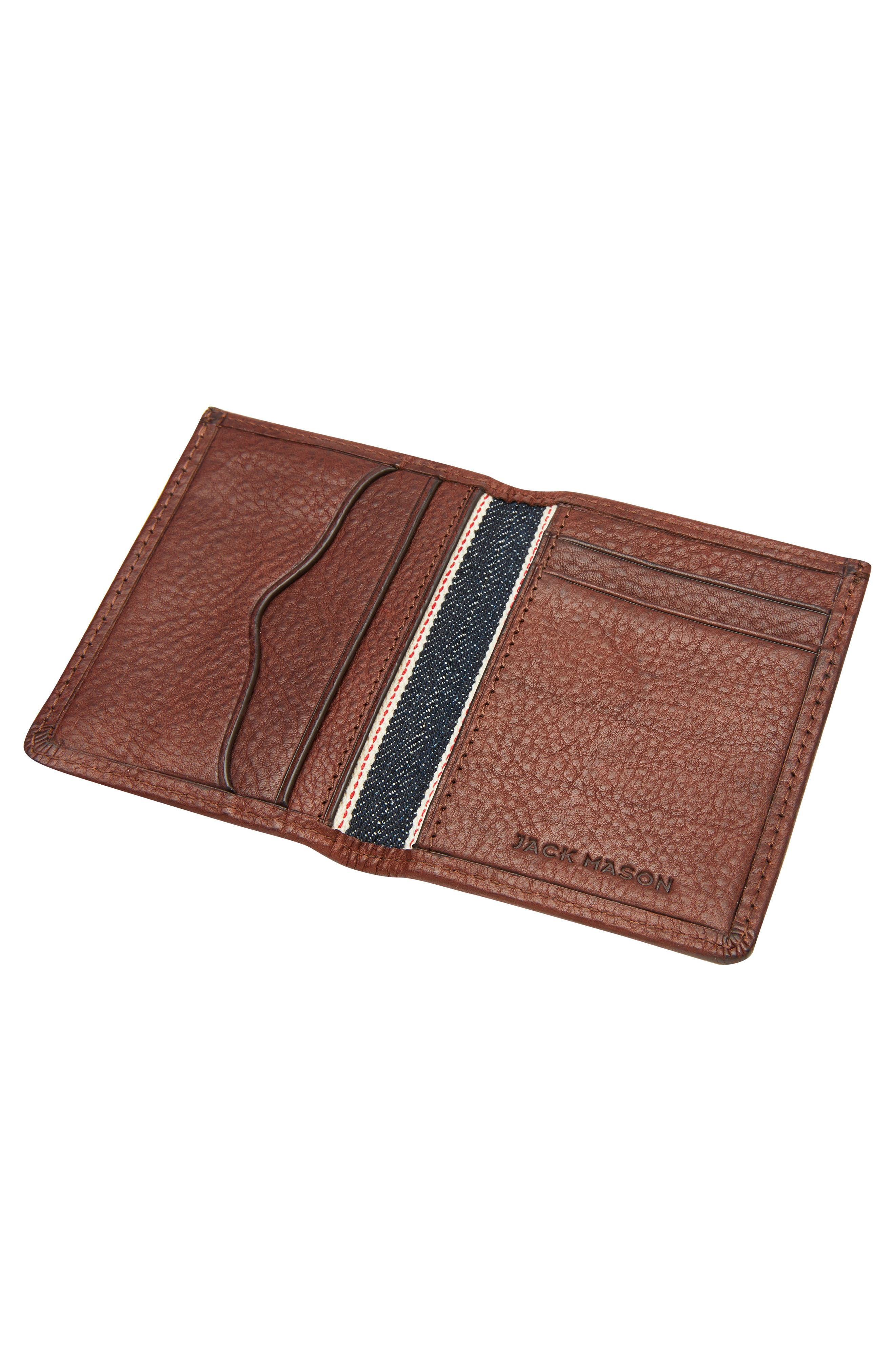 Leather with Selvedge Denim Card Case,                             Alternate thumbnail 2, color,                             200