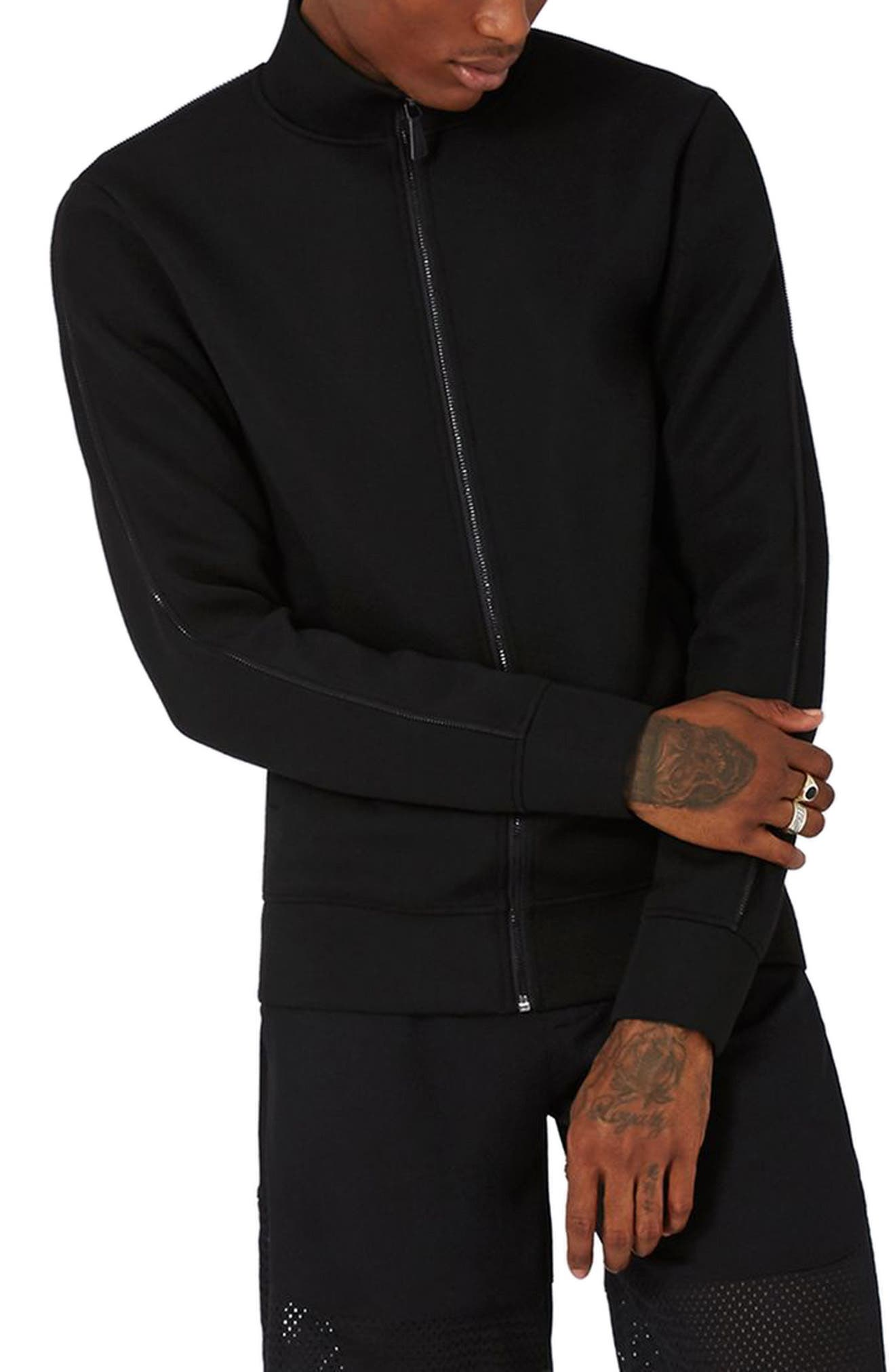 AAA Collection Zip Track Jacket,                             Main thumbnail 1, color,                             001
