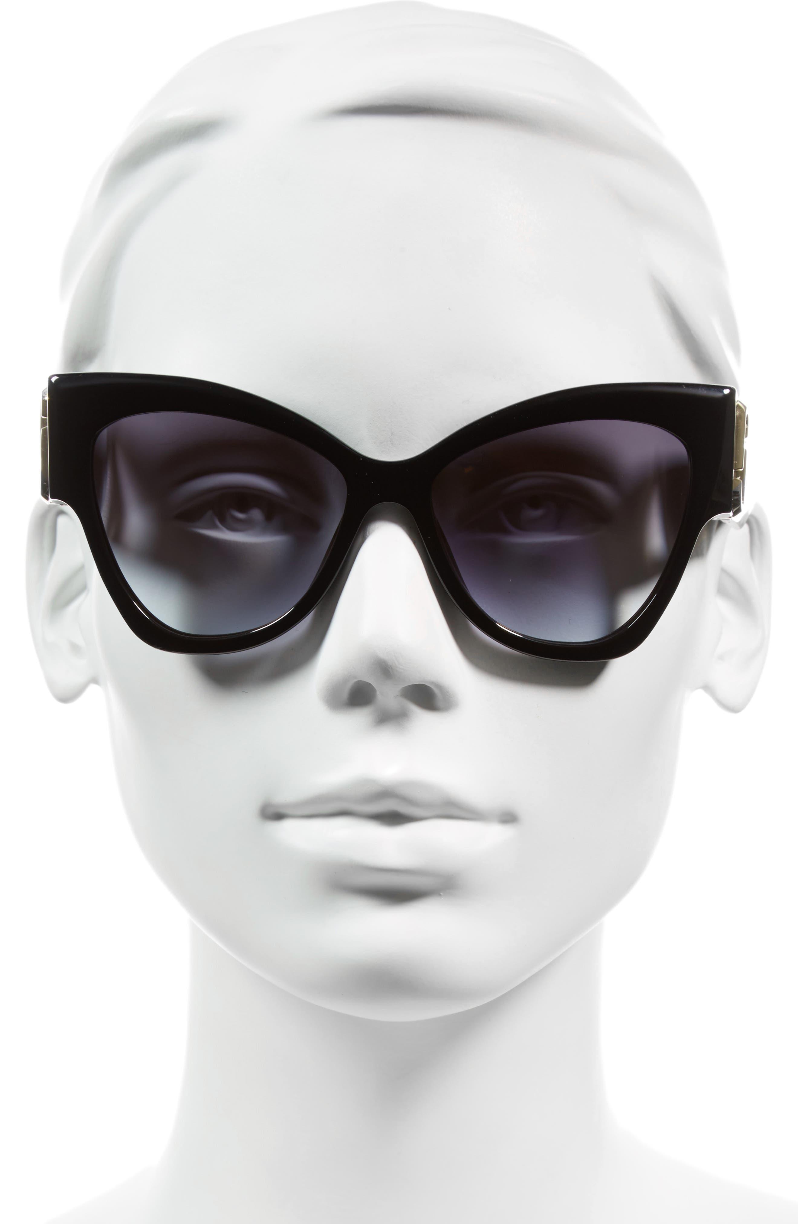 54mm Oversized Sunglasses,                             Alternate thumbnail 3, color,                             002