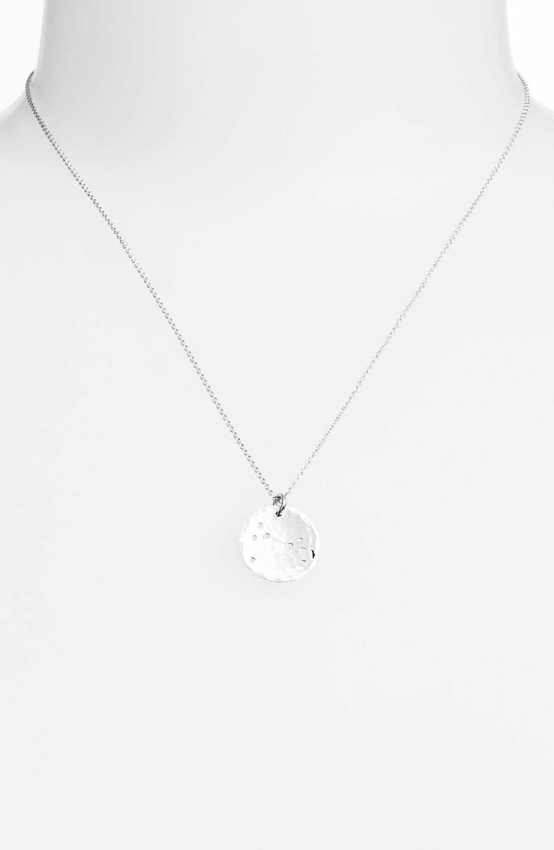Ija 'Small Zodiac' Sterling Silver Necklace,                             Main thumbnail 1, color,