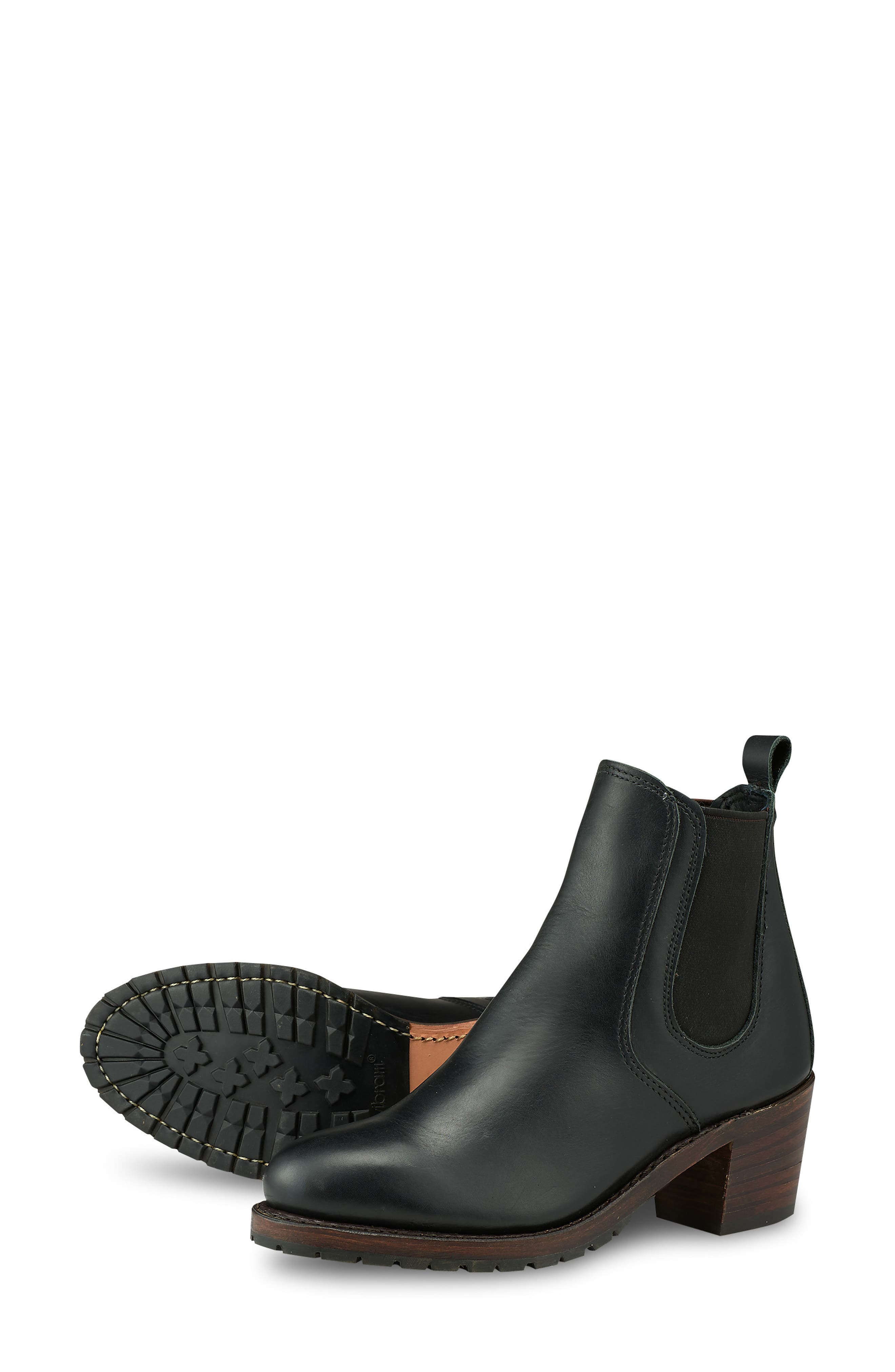 RED WING,                             Harriet Boot,                             Alternate thumbnail 5, color,                             BLACK BOUNDARY LEATHER