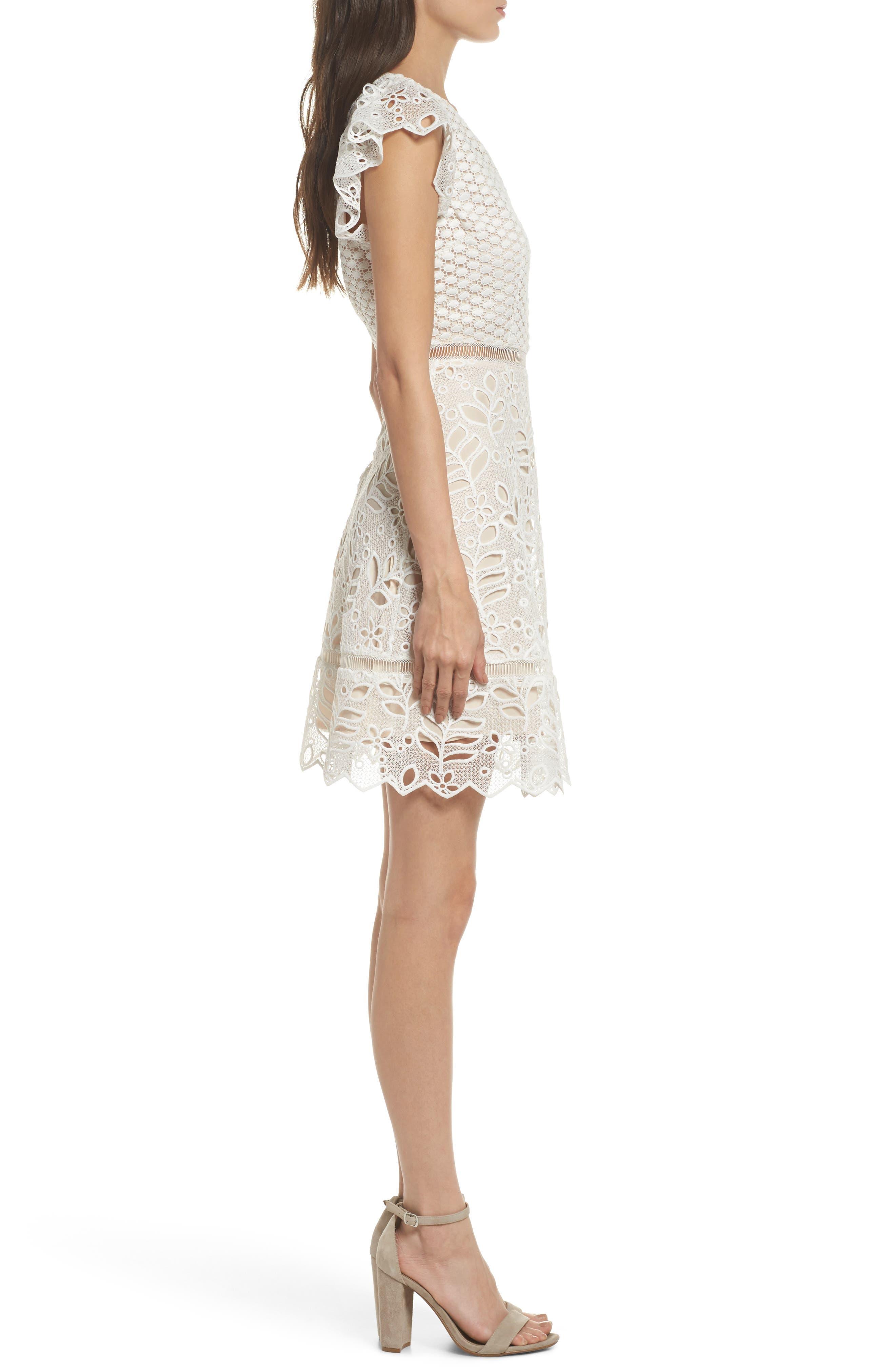 Ariane Mix Lace Dress,                             Alternate thumbnail 5, color,