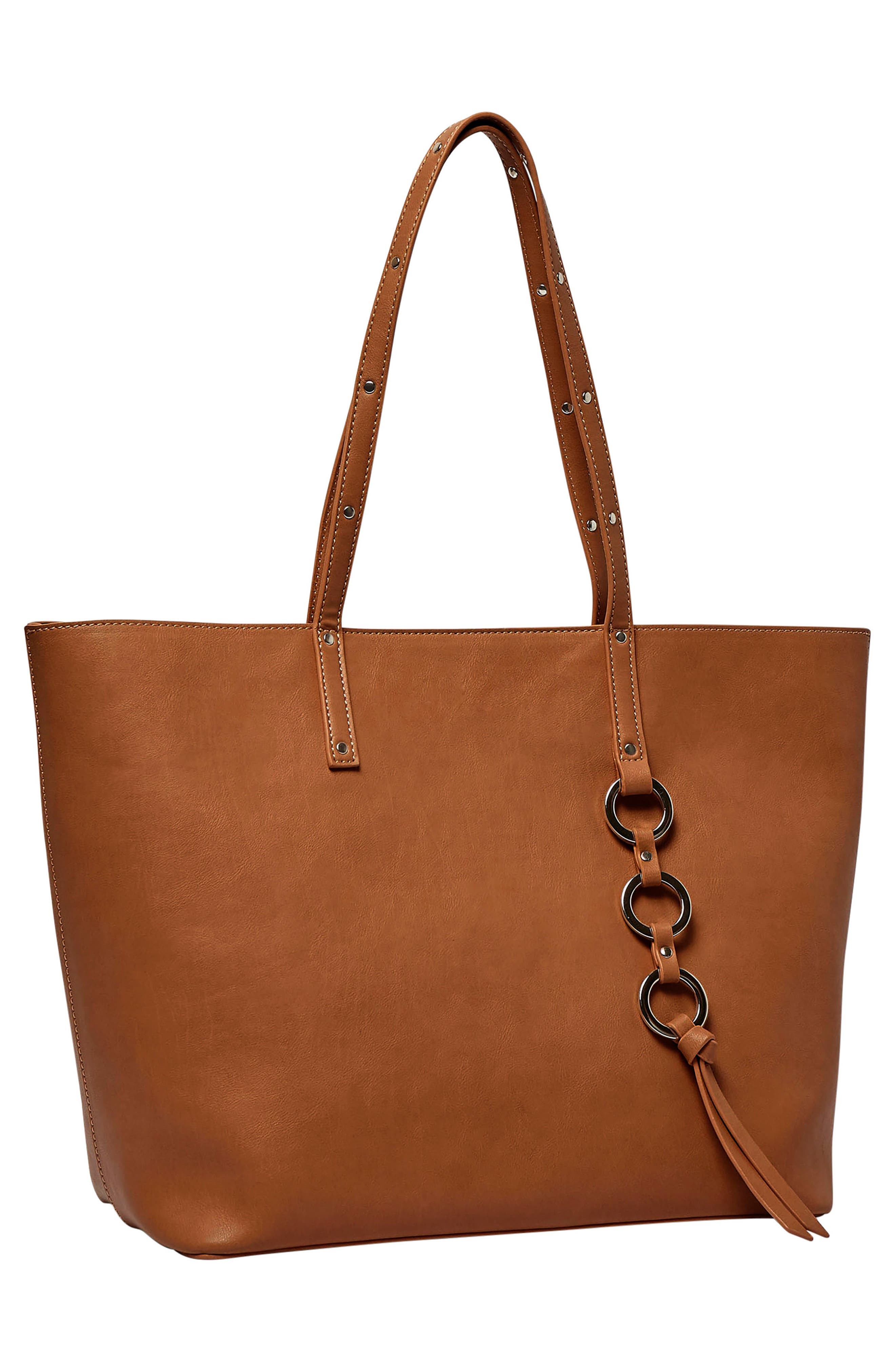 Wild Fire Vegan Leather Tote,                             Alternate thumbnail 9, color,