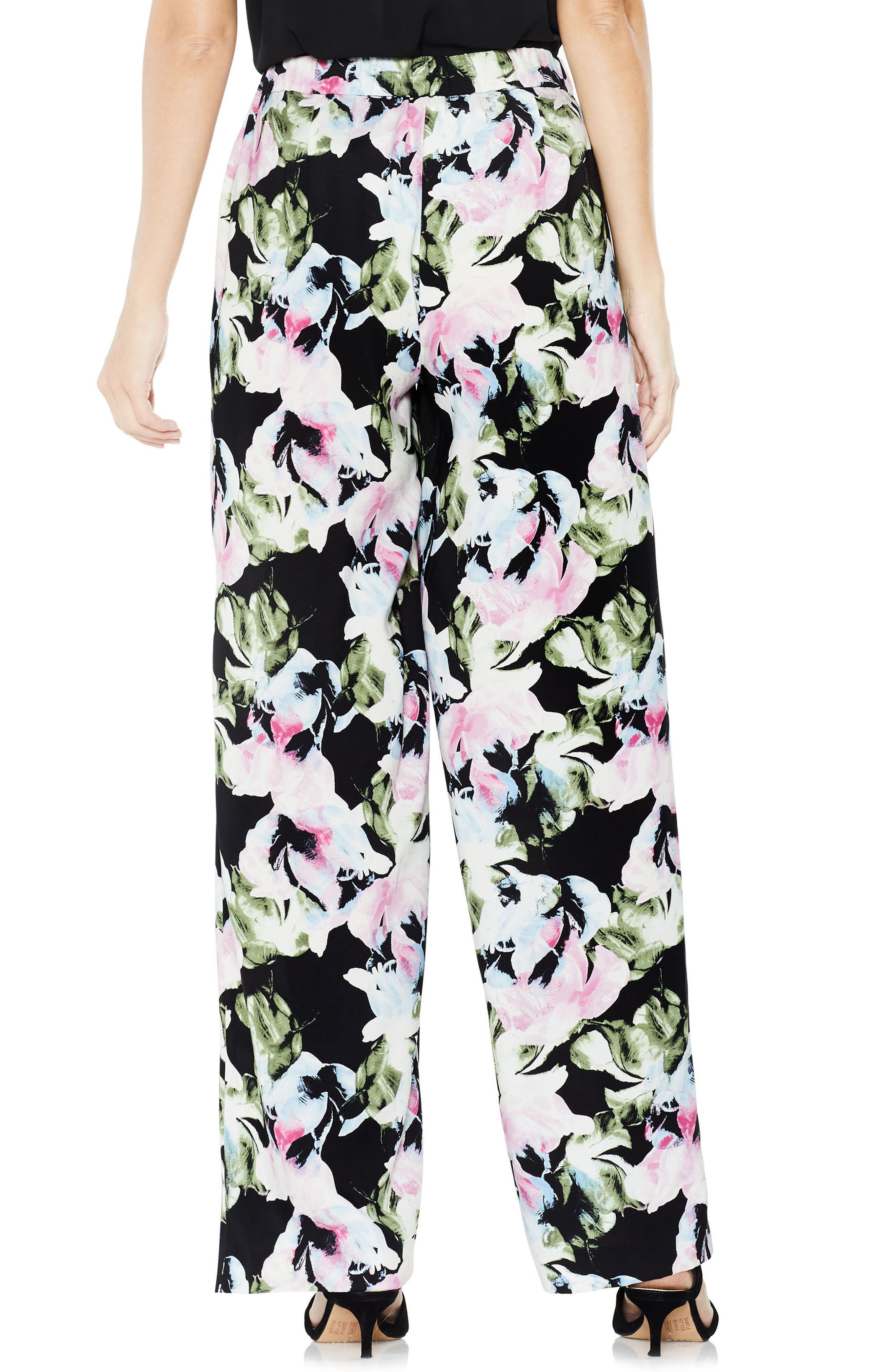 Glacier Floral Wide Leg Pants,                             Alternate thumbnail 2, color,