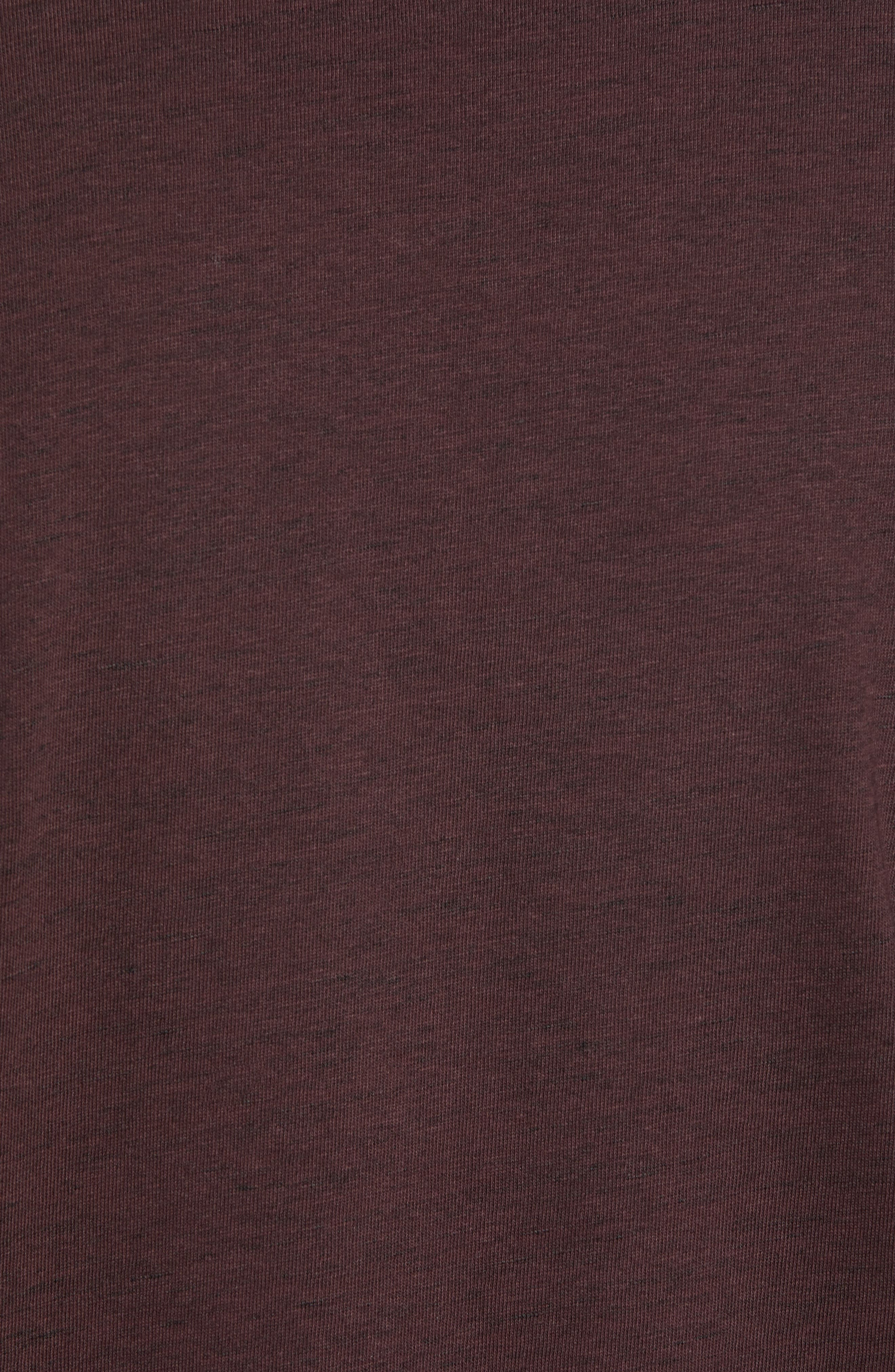 Flatrock Regular Fit V-Neck T-Shirt,                             Alternate thumbnail 5, color,                             PORT