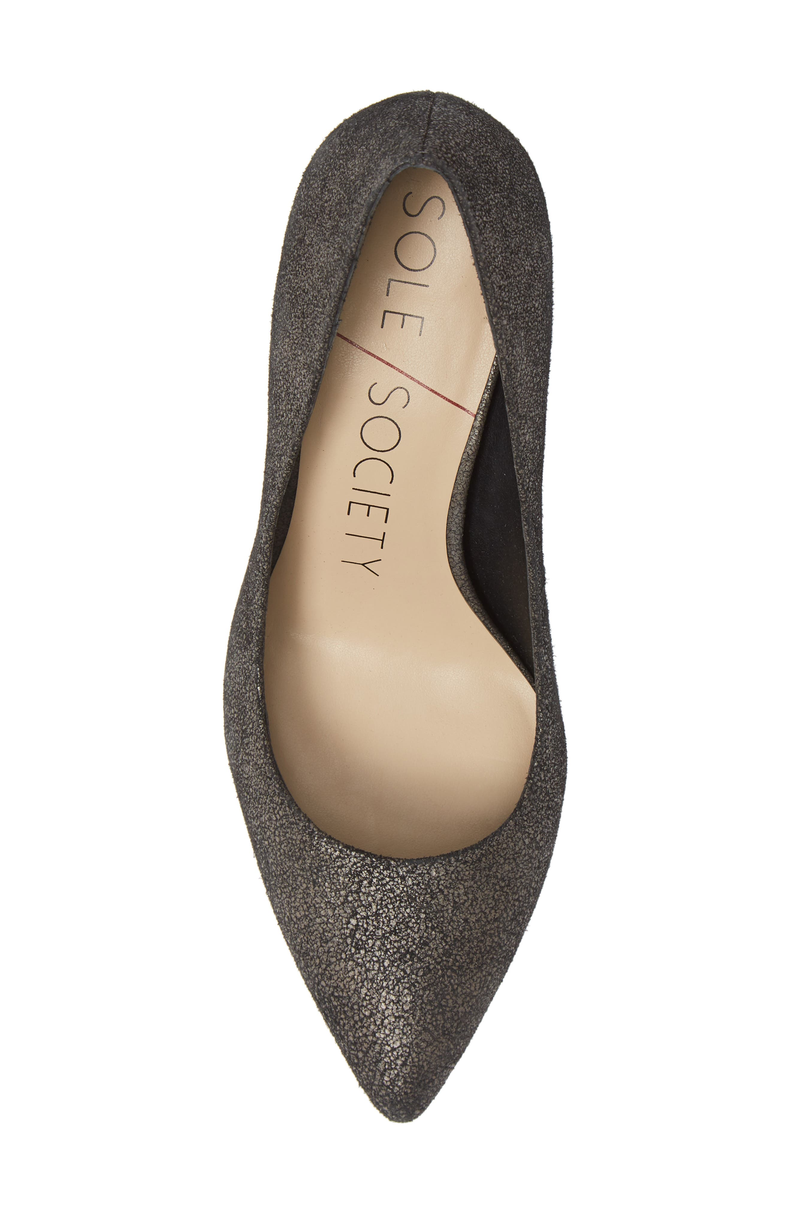 SOLE SOCIETY,                             Twila Pump,                             Alternate thumbnail 5, color,                             DARK CEMENT LEATHER