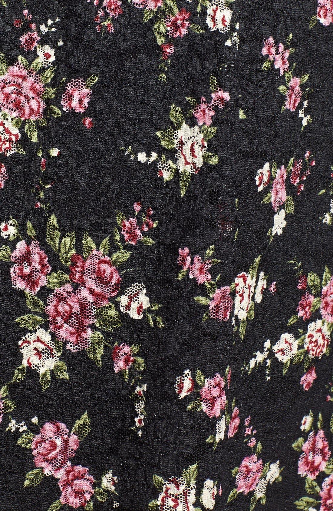 Floral Lace Skirt,                             Alternate thumbnail 3, color,                             001