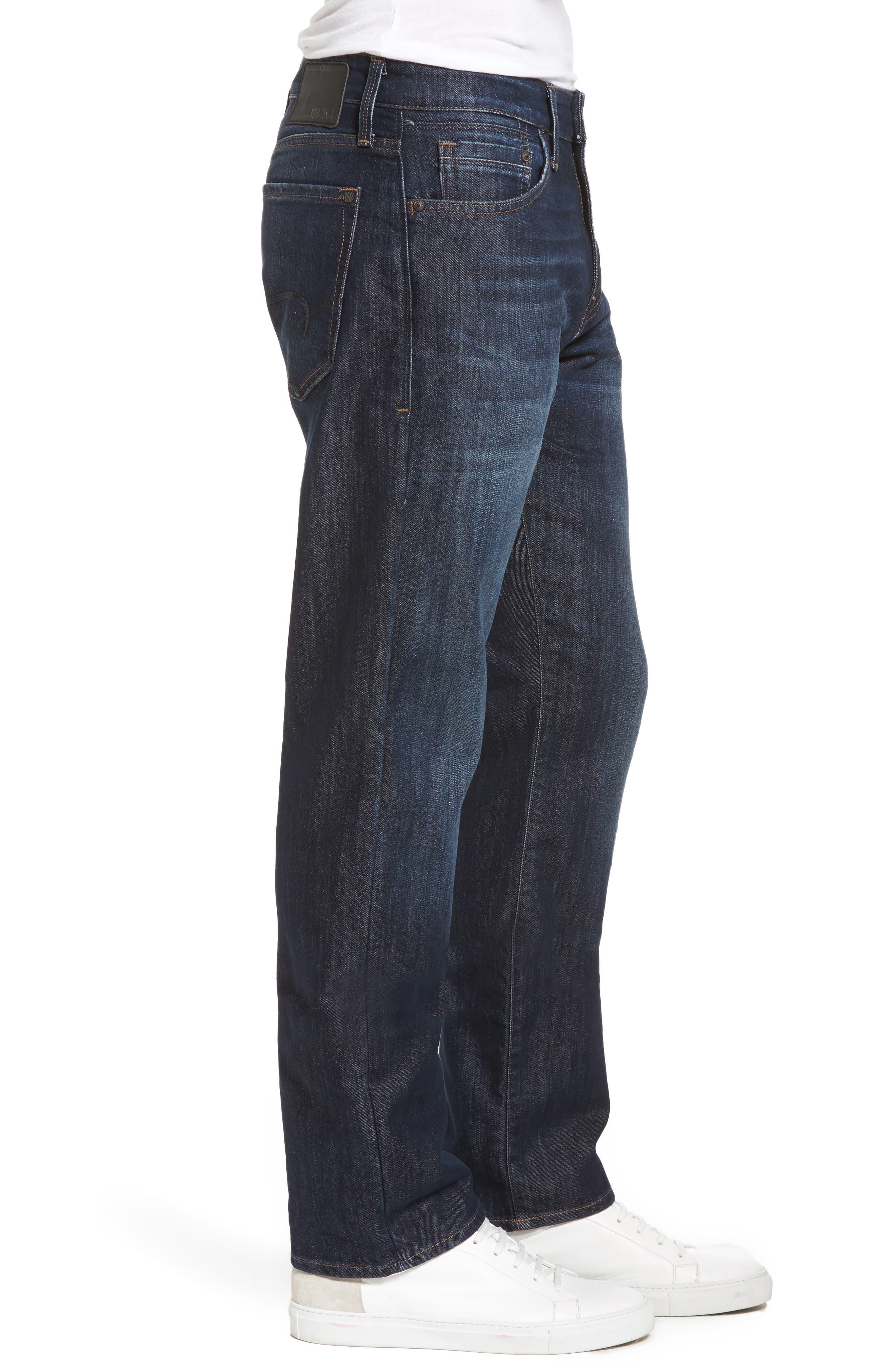 Matt Relaxed Fit Jeans,                             Alternate thumbnail 3, color,                             DARK STANFORD