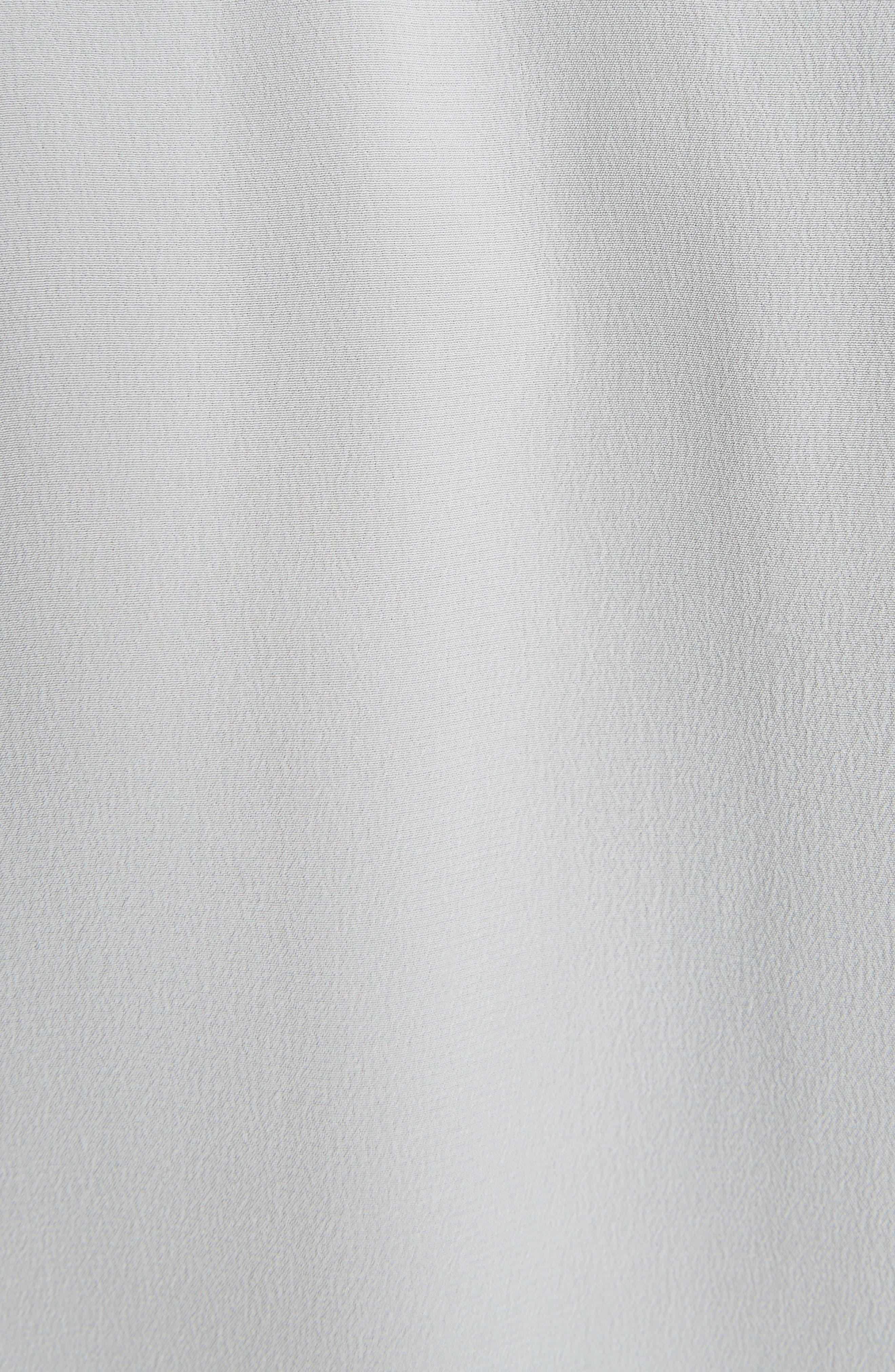 Asymmetrical Patchwork Silk Shirt,                             Alternate thumbnail 5, color,                             460