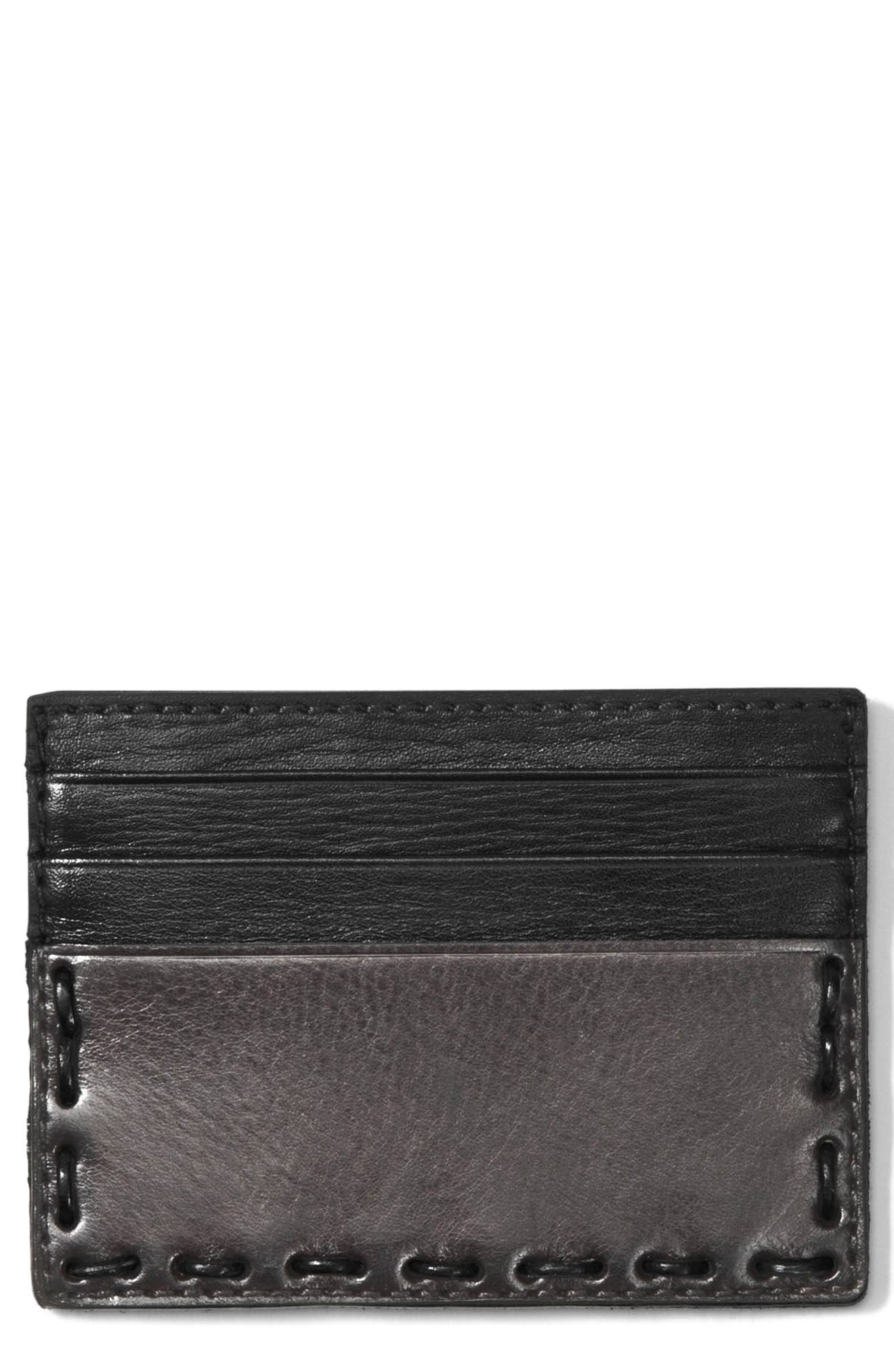 Leather Card Case,                             Main thumbnail 1, color,