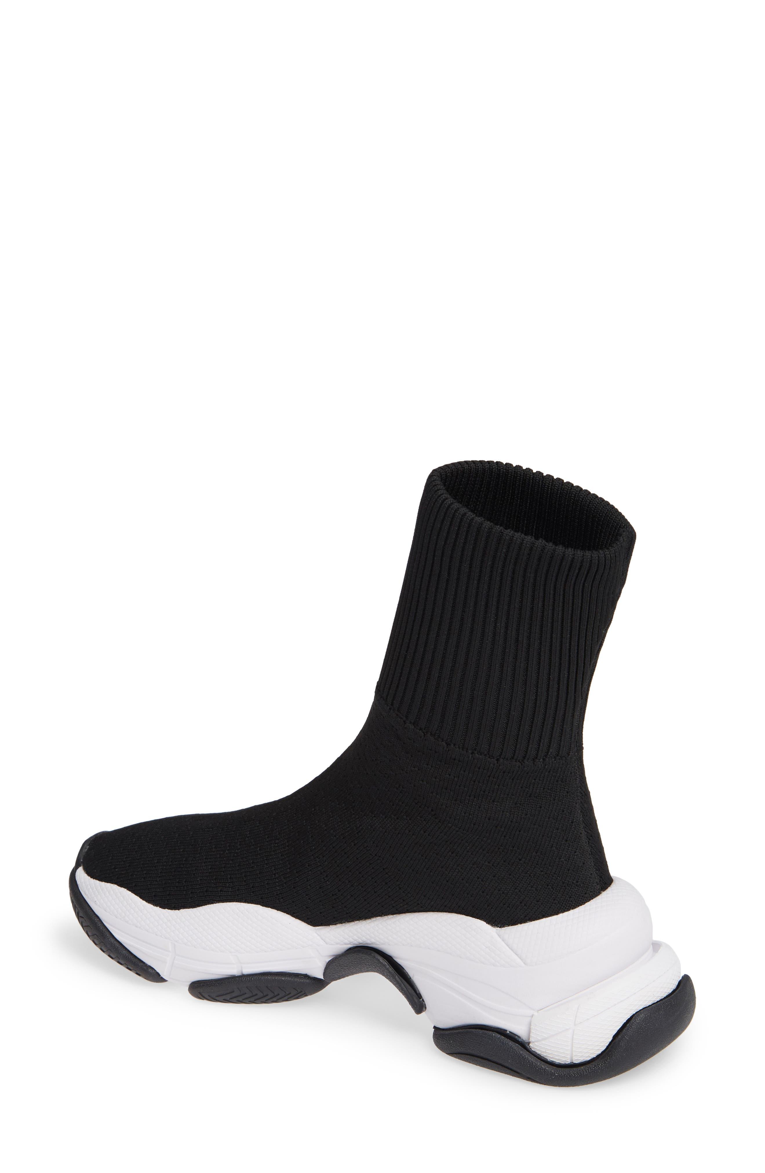 Tenko Ankle High Top Sock Sneaker,                             Alternate thumbnail 2, color,                             BLACK