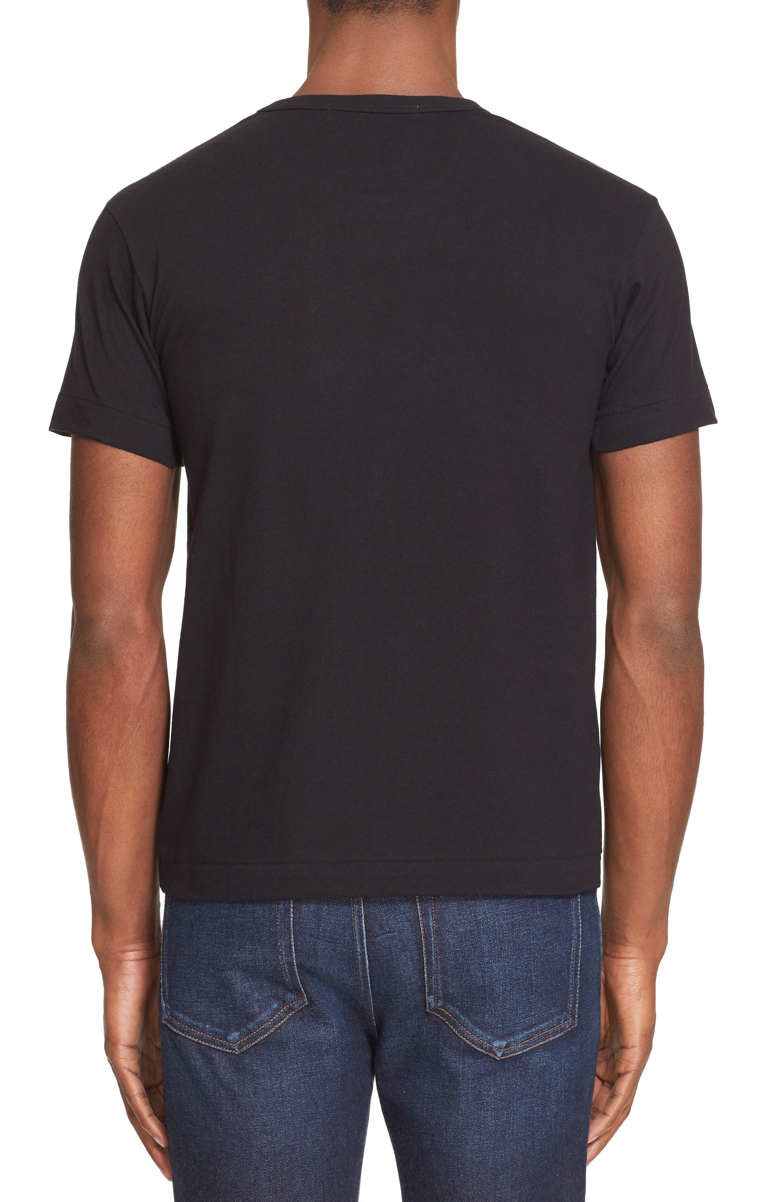 COMME DES GARÇONS PLAY,                             Cotton Jersey Crewneck T-Shirt,                             Alternate thumbnail 2, color,                             BLACK 1