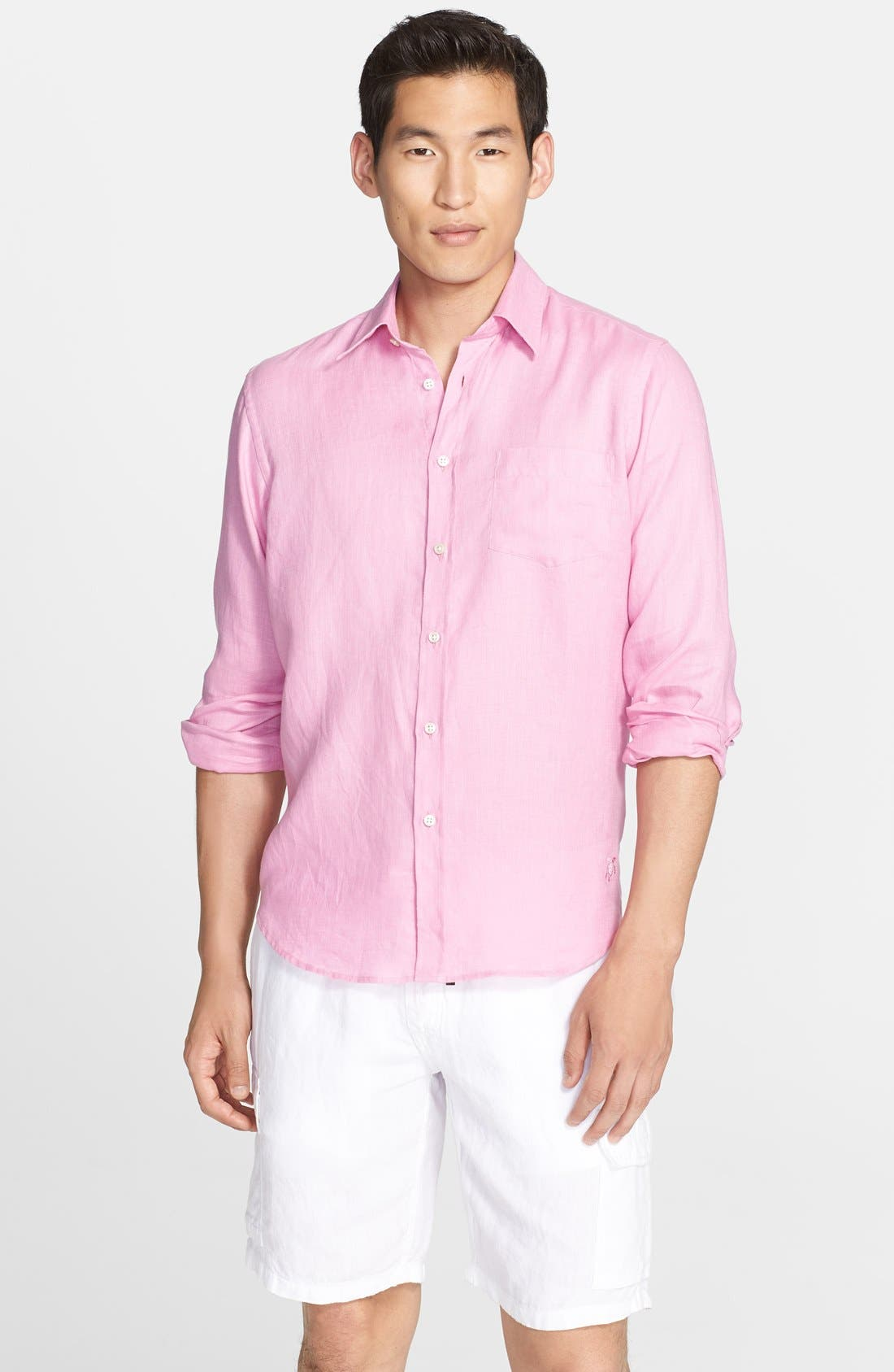 'Caroubier' Linen Shirt,                             Main thumbnail 15, color,