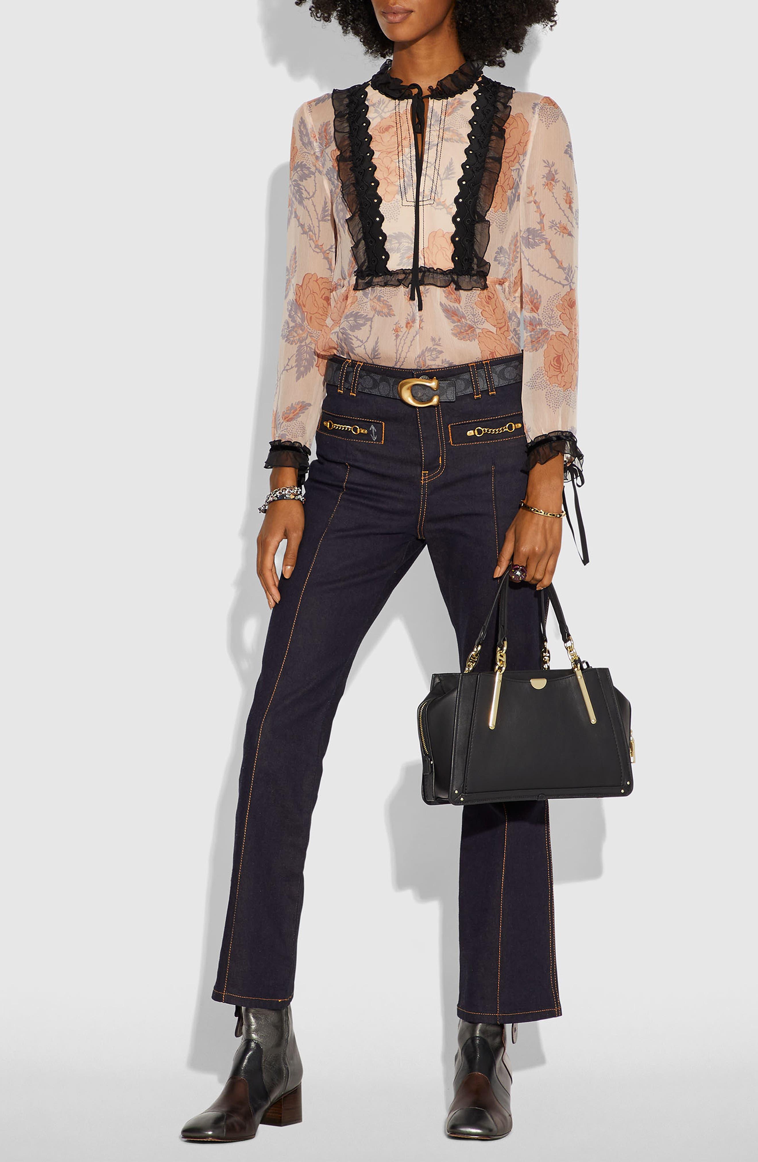 COACH,                             Dreamer Leather Bag,                             Alternate thumbnail 2, color,                             BLACK