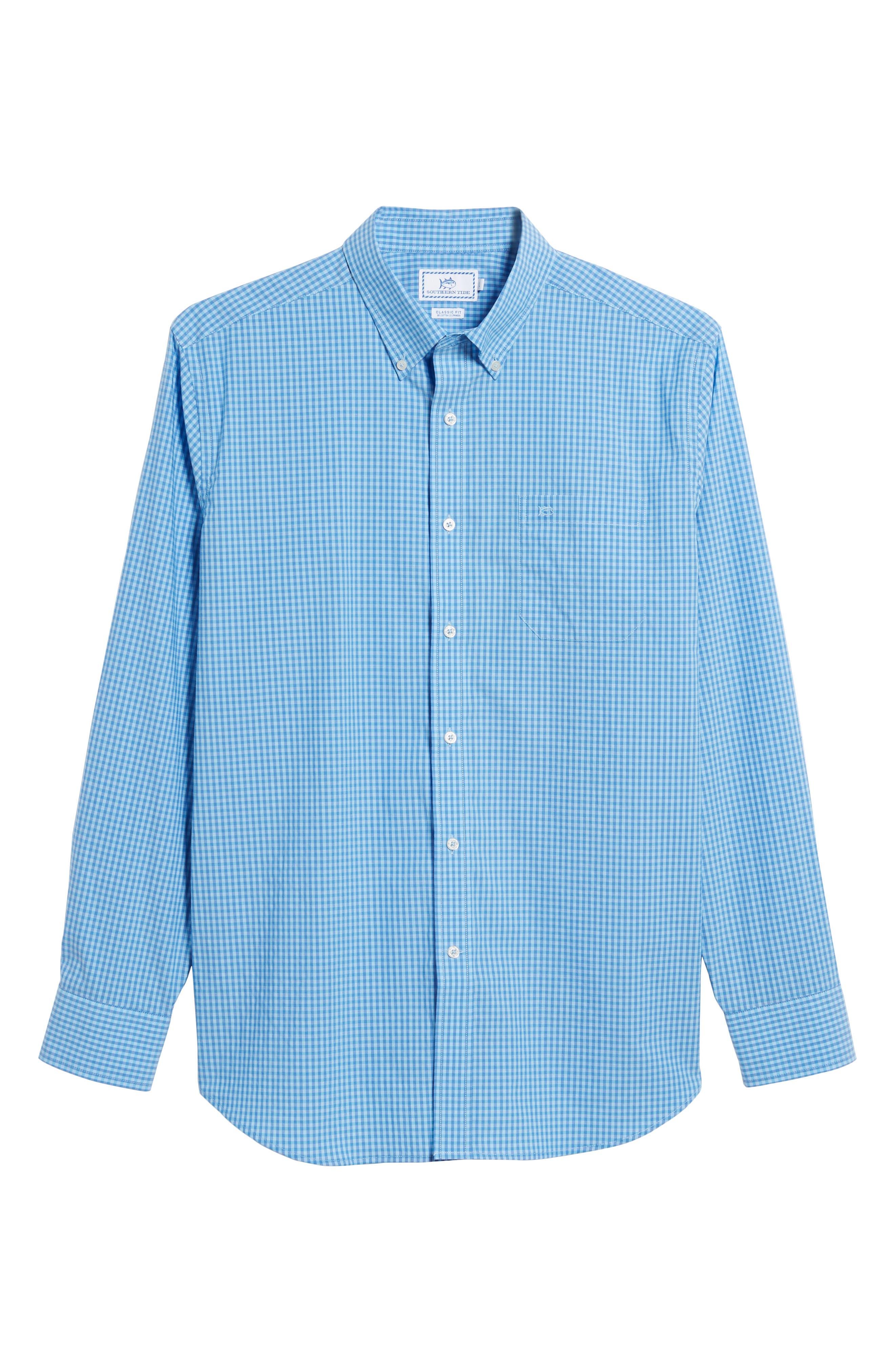 Camana Bay Regular Fit Check Stretch Sport Shirt,                             Alternate thumbnail 6, color,                             392