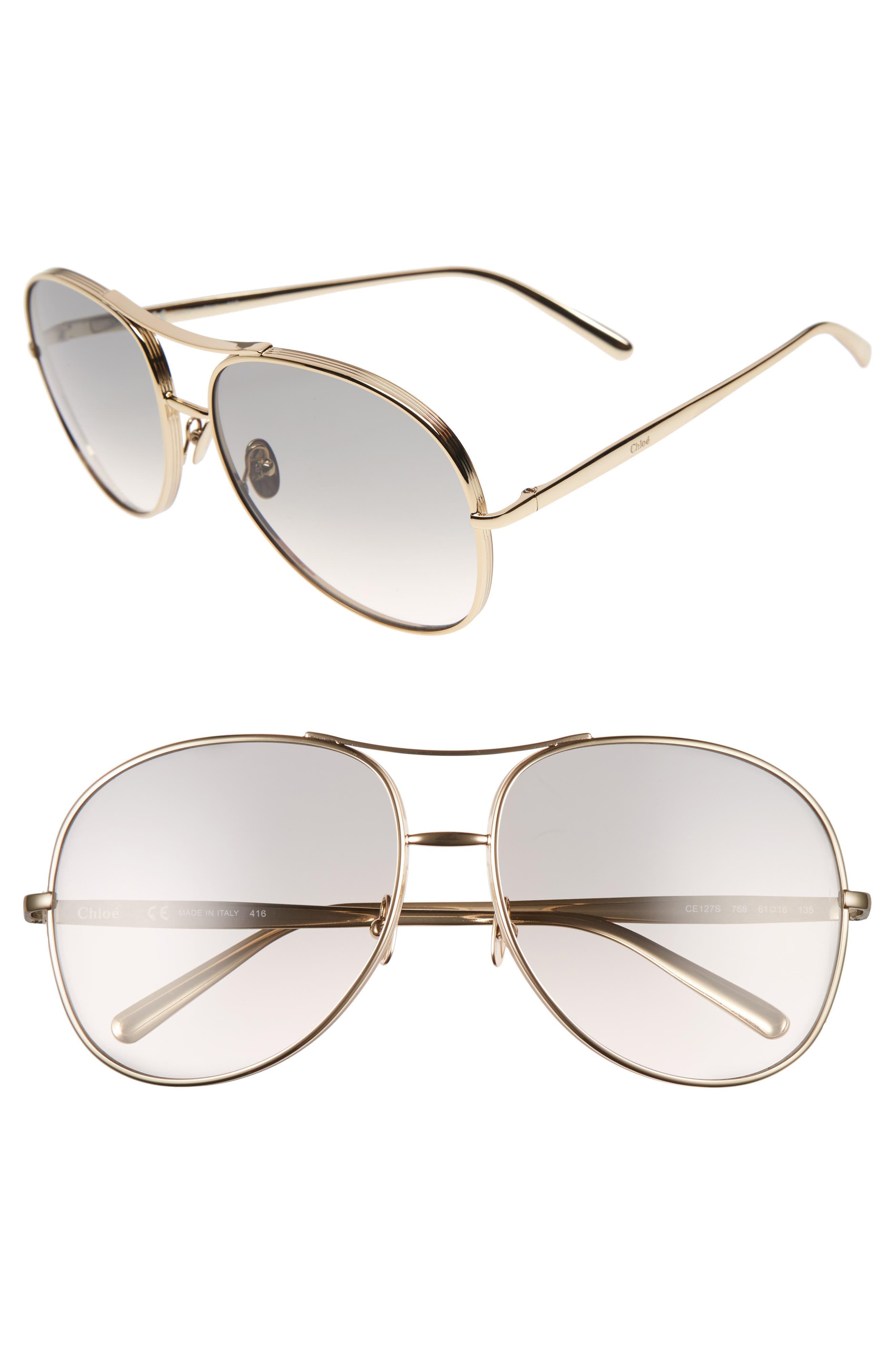 61mm Oversize Sunglasses,                             Alternate thumbnail 6, color,