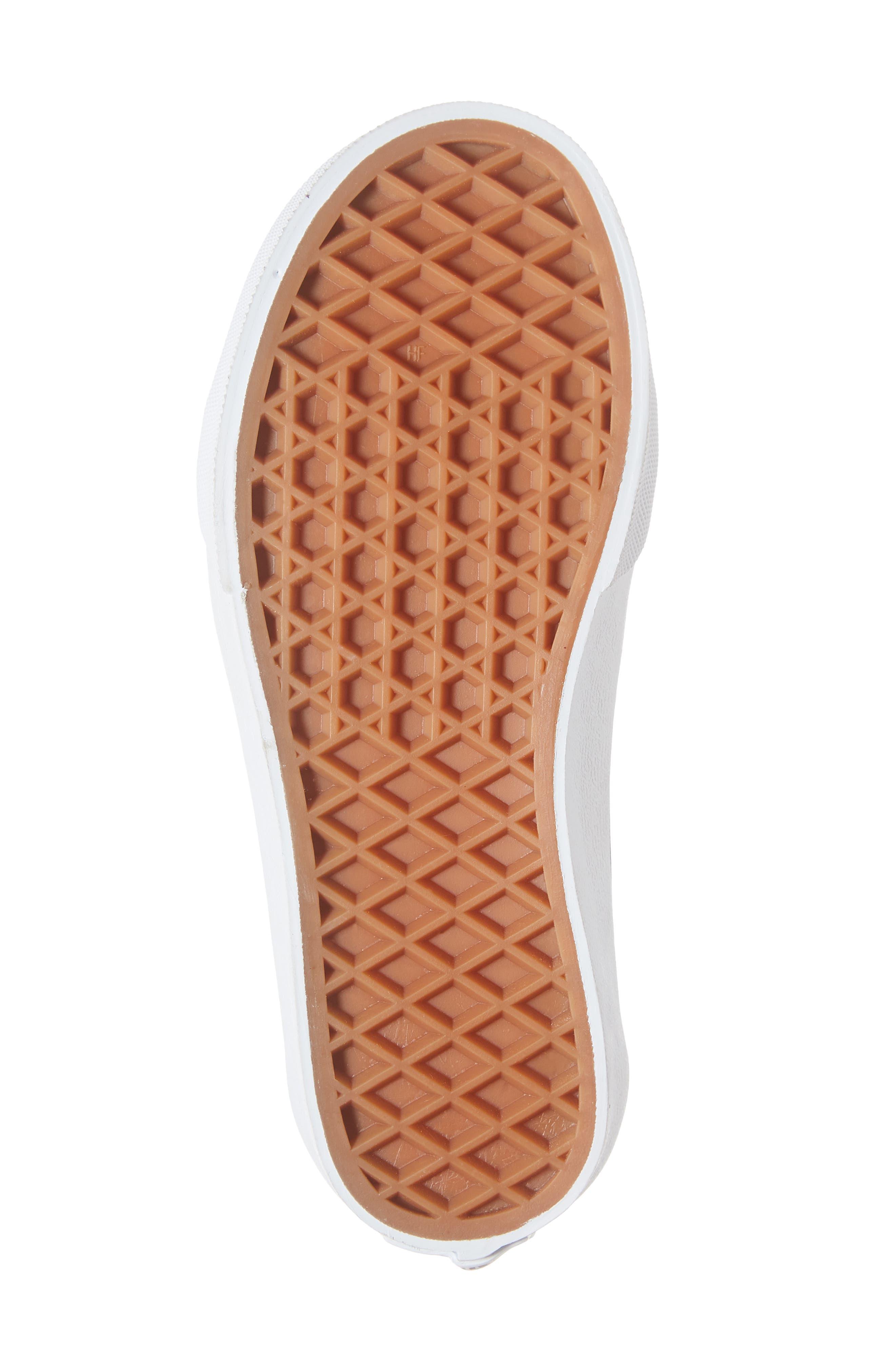 Sk8-Hi Zip Sneaker,                             Alternate thumbnail 6, color,                             BLACK/ TRUE WHITE