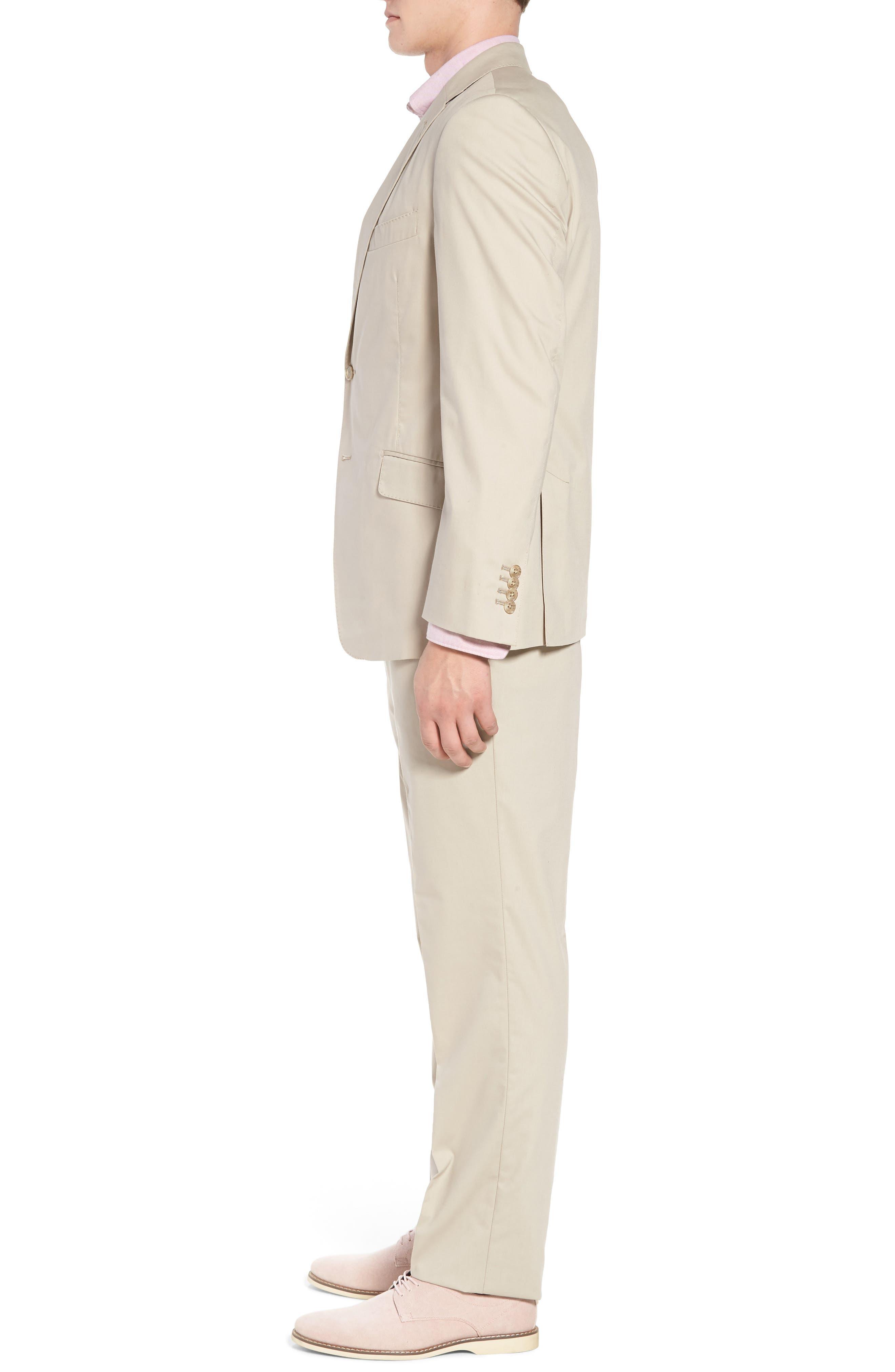 Irons AIM Classic Fit Solid Cotton Blend Suit,                             Alternate thumbnail 3, color,                             BEIGE