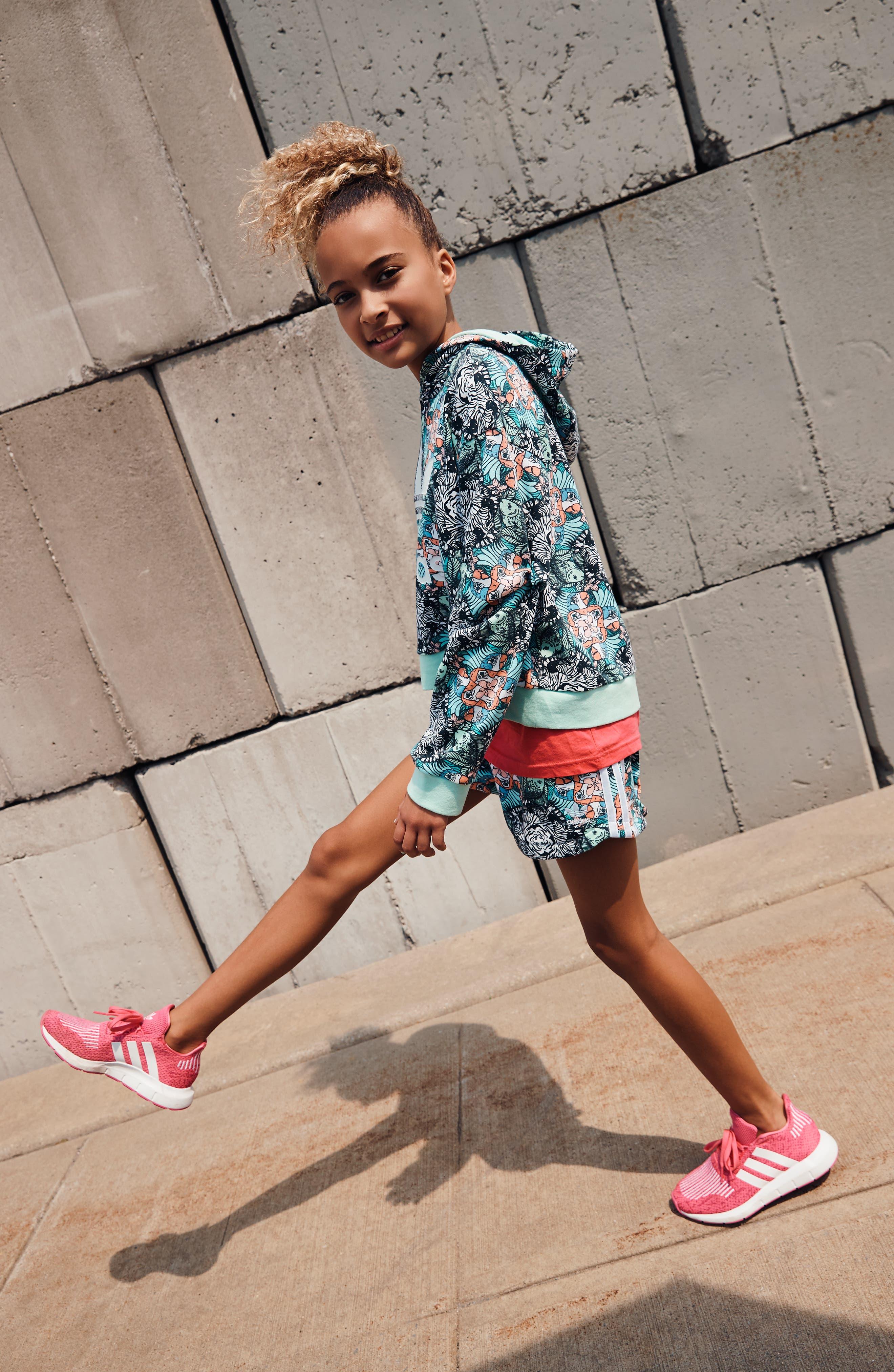 Swift Run J Sneaker,                             Alternate thumbnail 11, color,                             SEMI SOLAR PINK/ WHITE