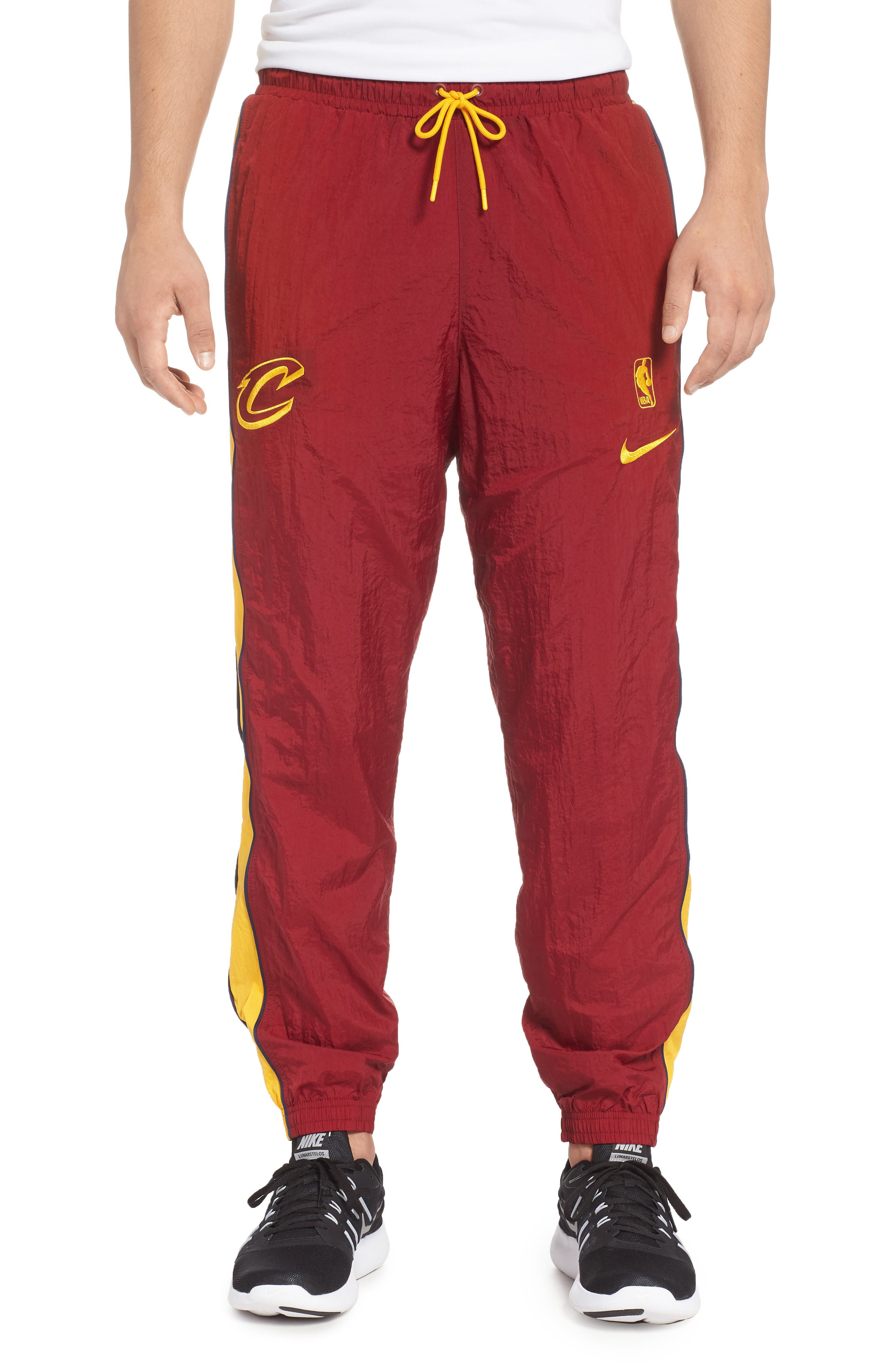 Cleveland Cavaliers Tracksuit Pants,                             Main thumbnail 1, color,                             TEAM RED/ UNIVERSITY GOLD