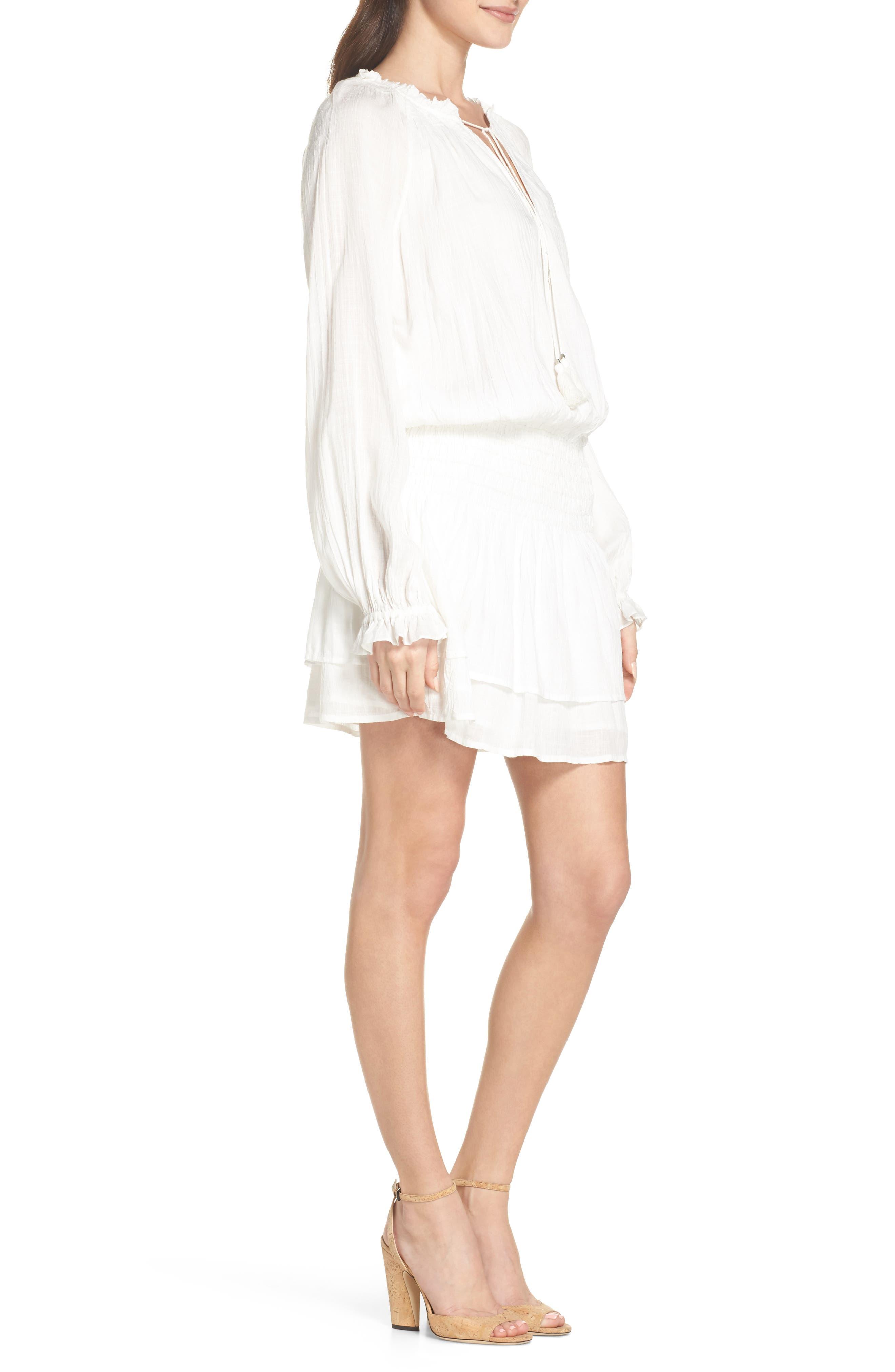 Lemay Peasant Dress,                             Alternate thumbnail 3, color,                             100