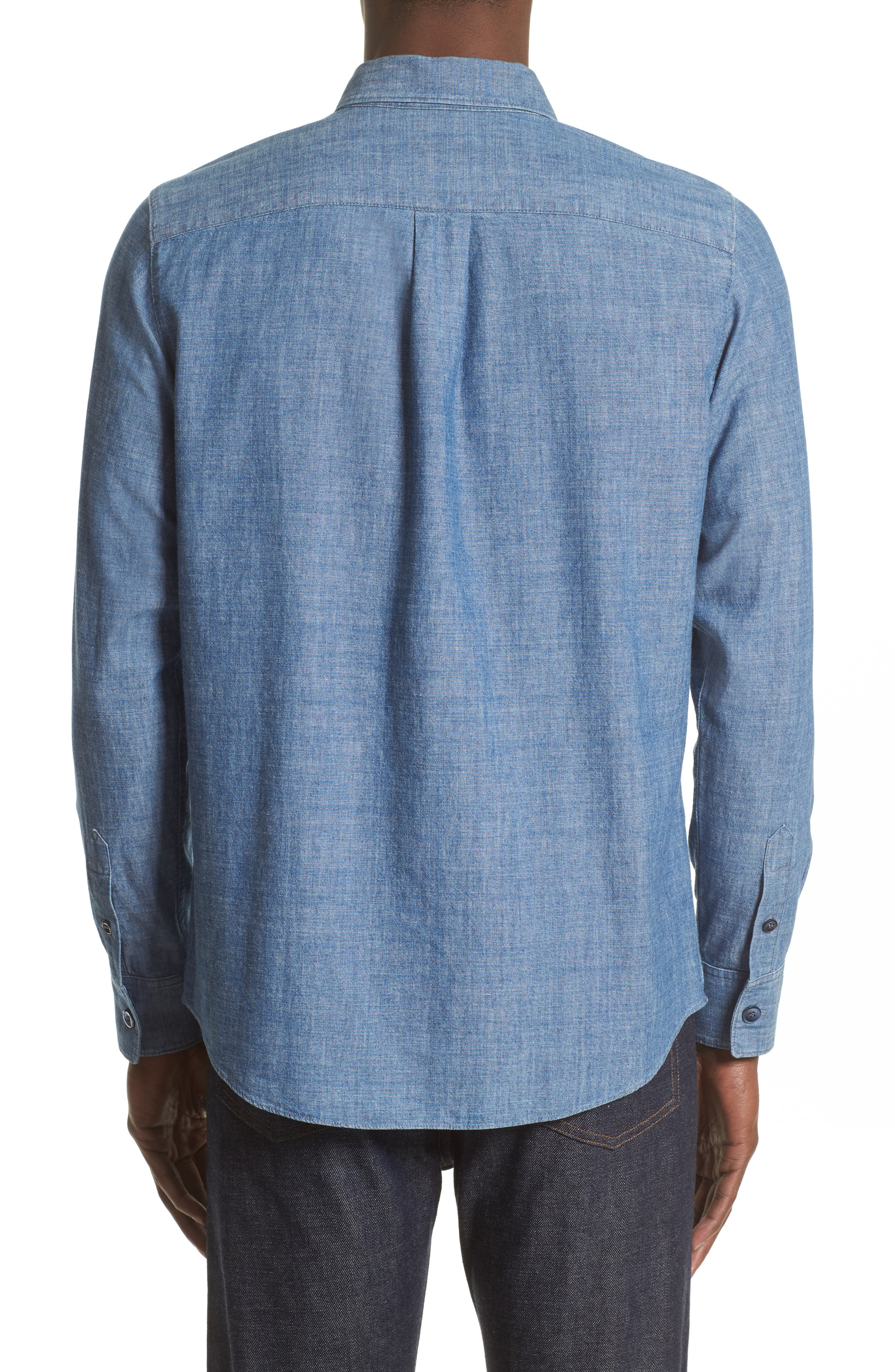 Chambray Chemise Shirt,                             Alternate thumbnail 3, color,                             461