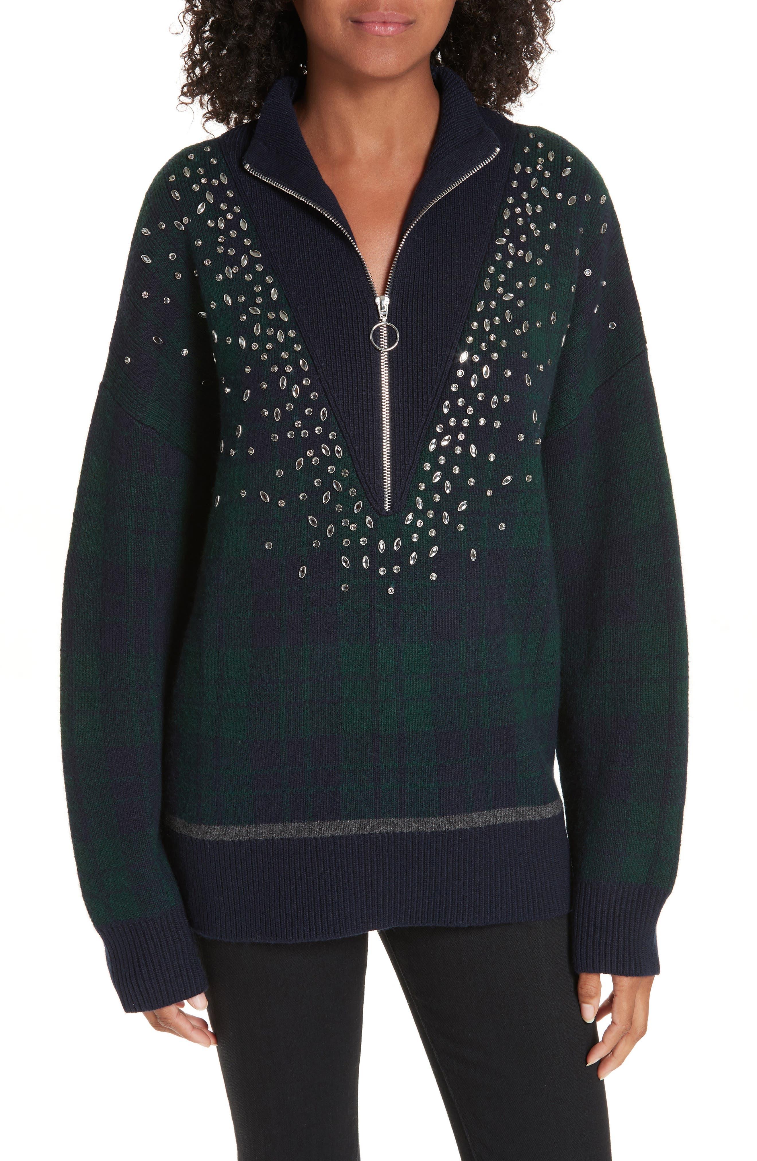 Patience Half Zip Sweater,                         Main,                         color, DEEP NAVY