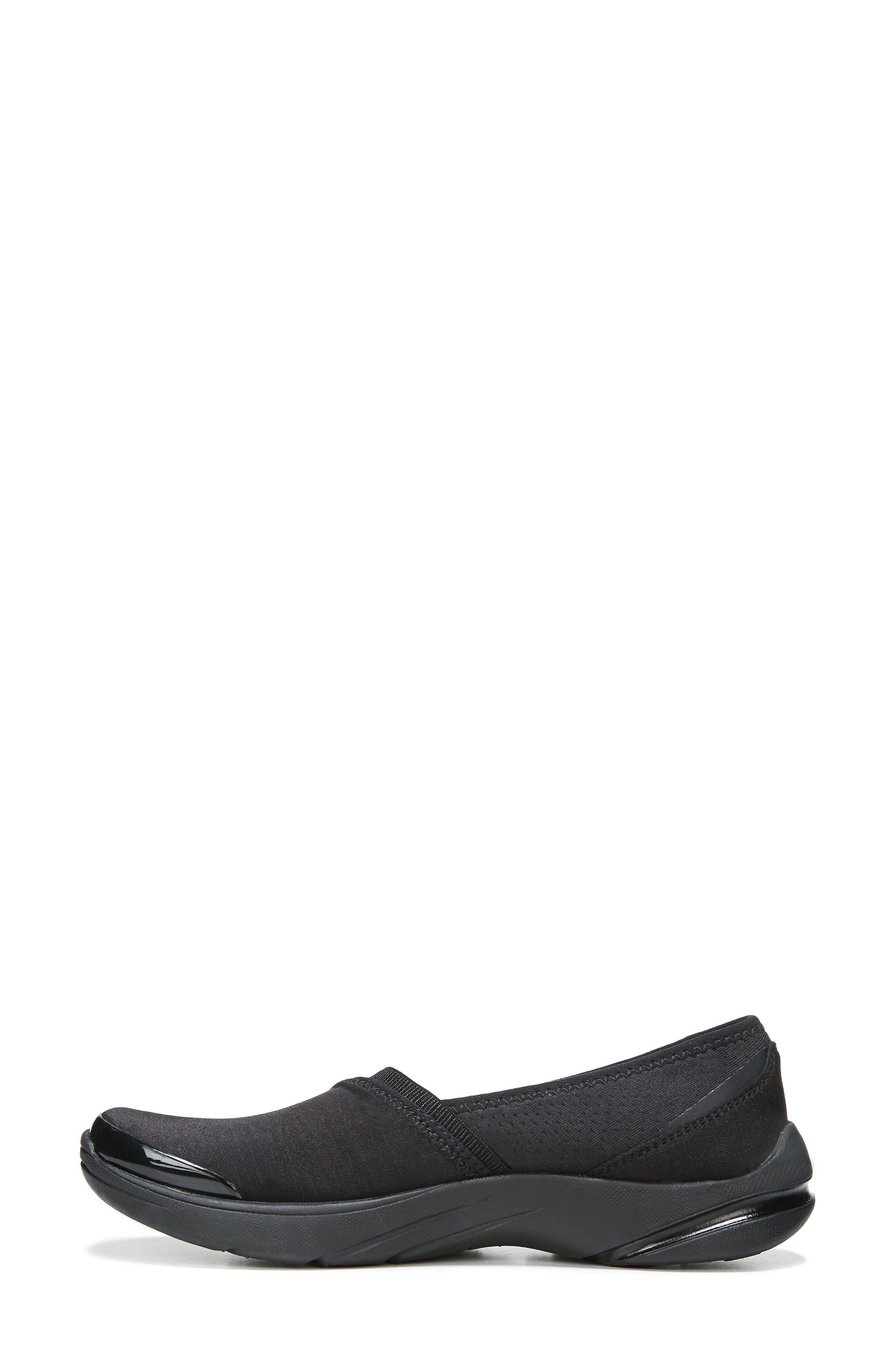 Lollipop Slip-On Sneaker,                             Alternate thumbnail 3, color,                             BLACK FABRIC