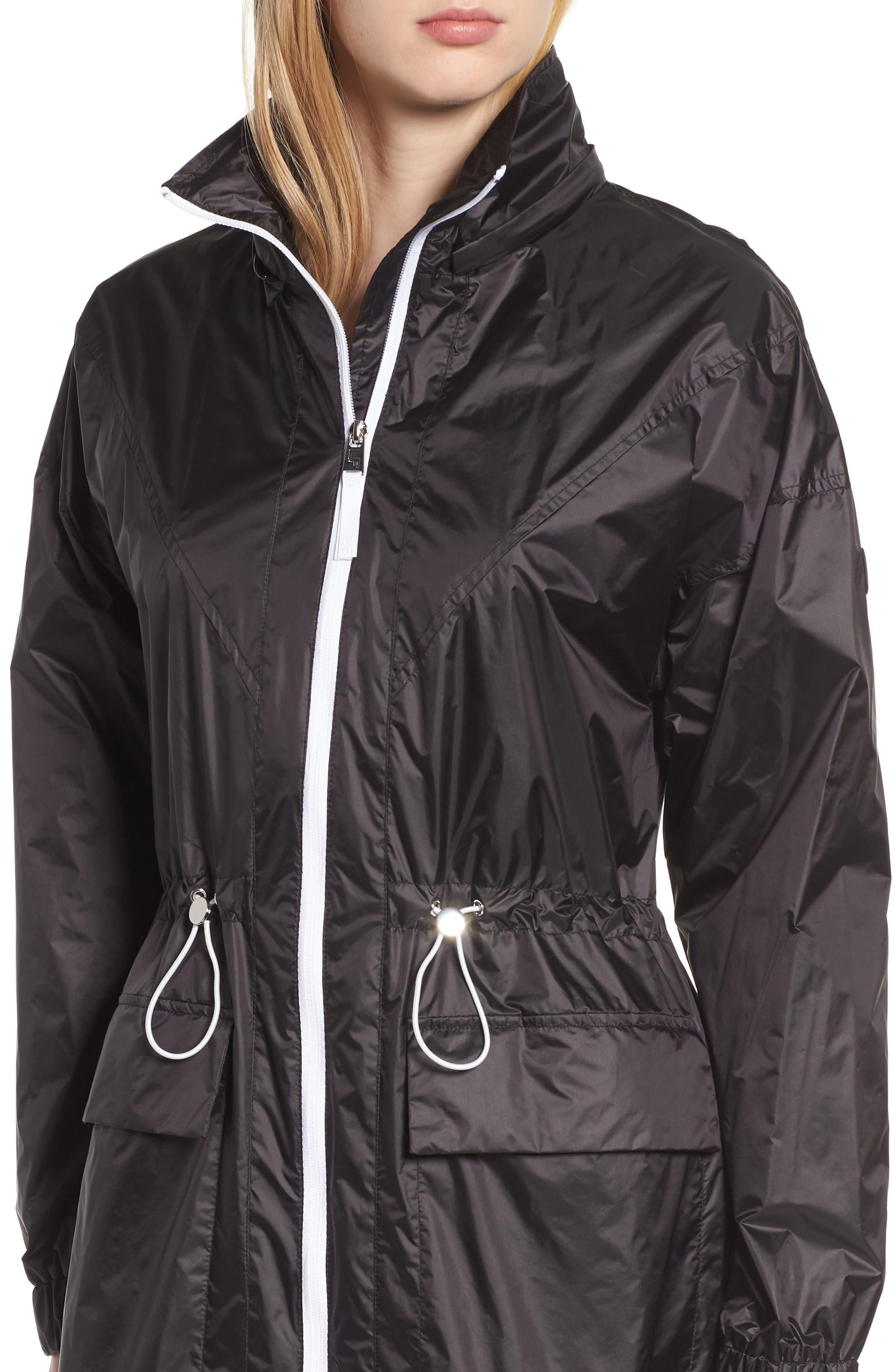 Contrast Zip Anorak Jacket,                             Alternate thumbnail 4, color,                             001