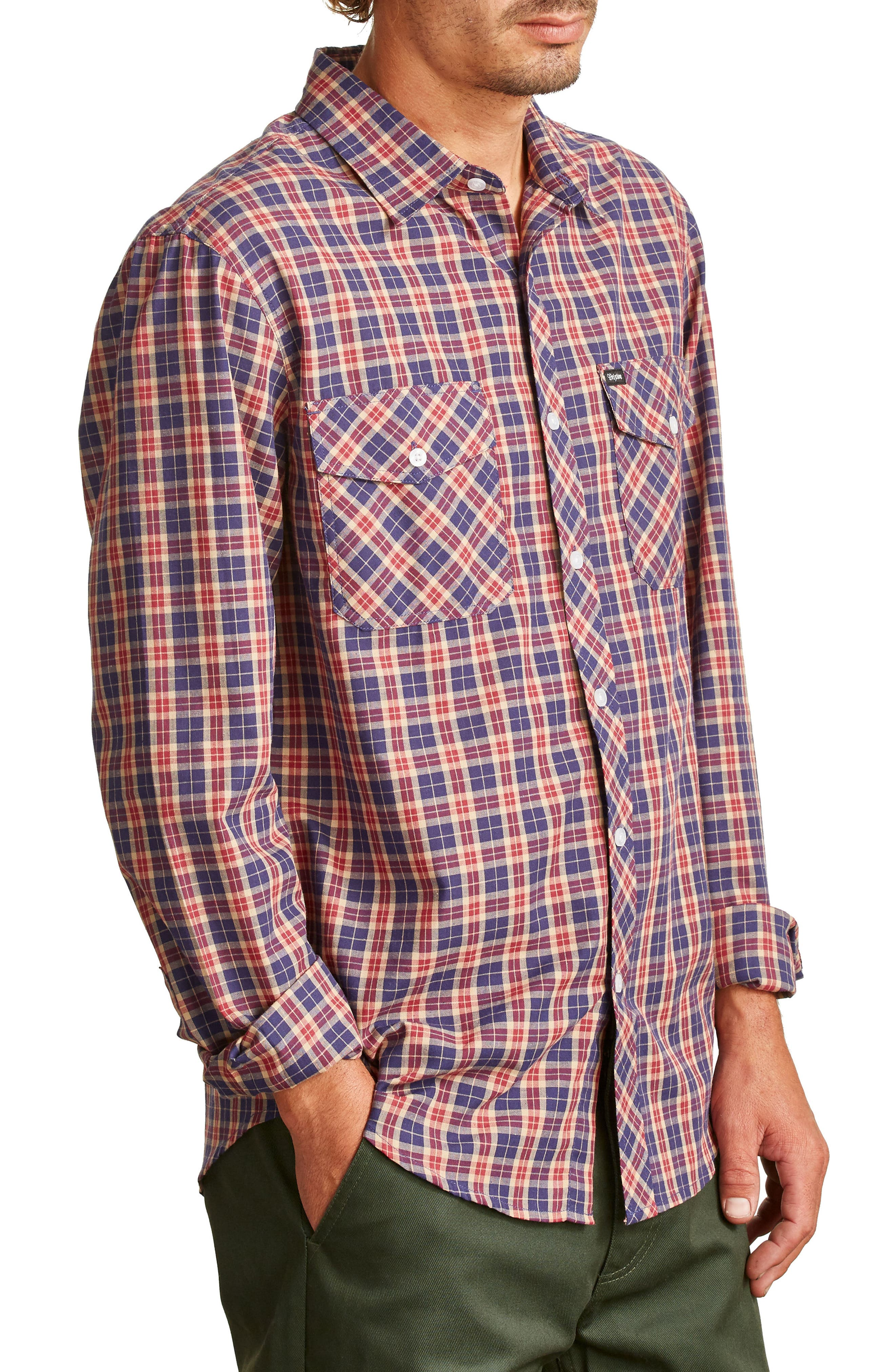Memphis Woven Shirt,                             Alternate thumbnail 3, color,                             413