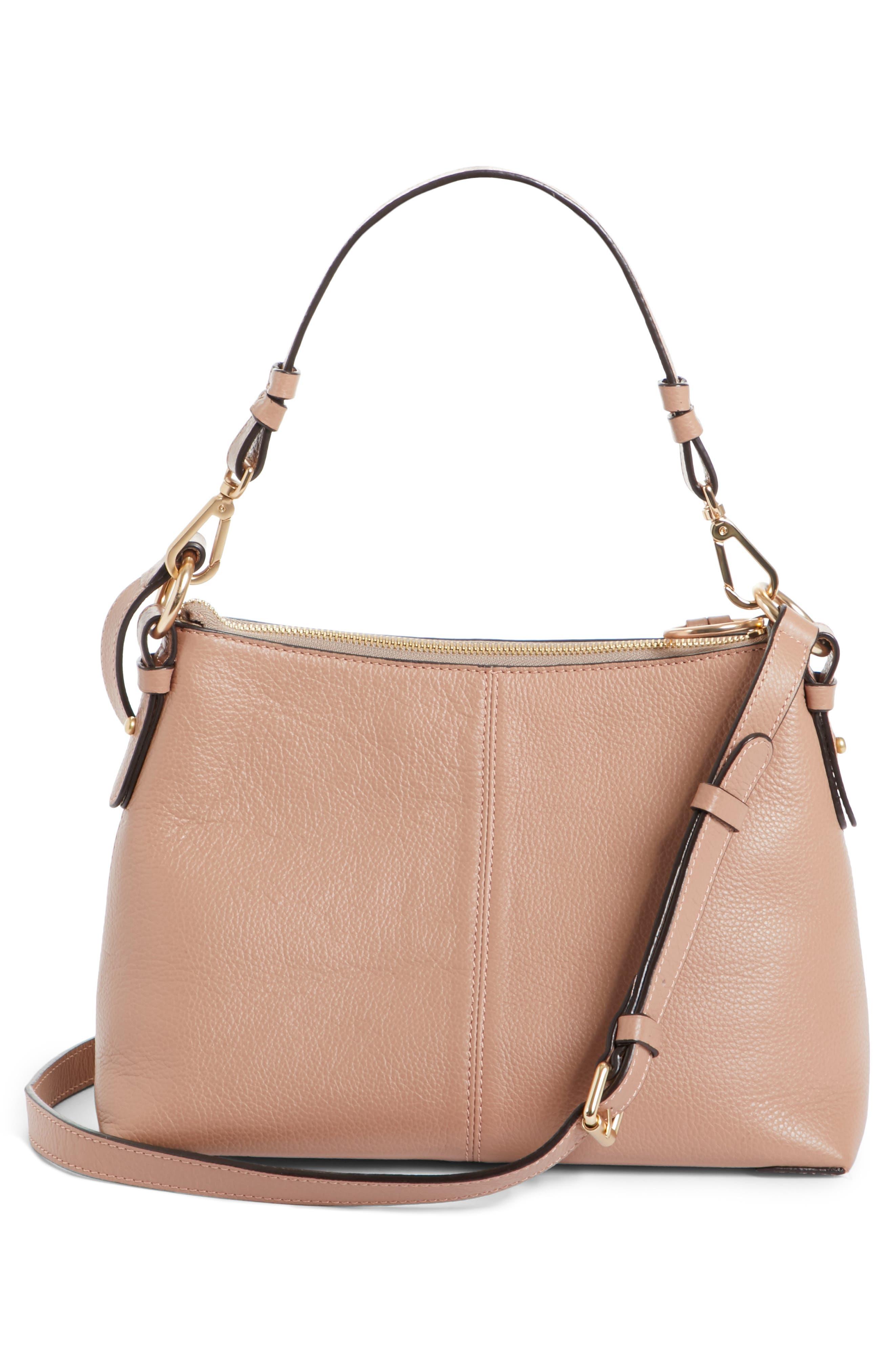 Small Joan Leather Shoulder Bag,                             Alternate thumbnail 3, color,                             650