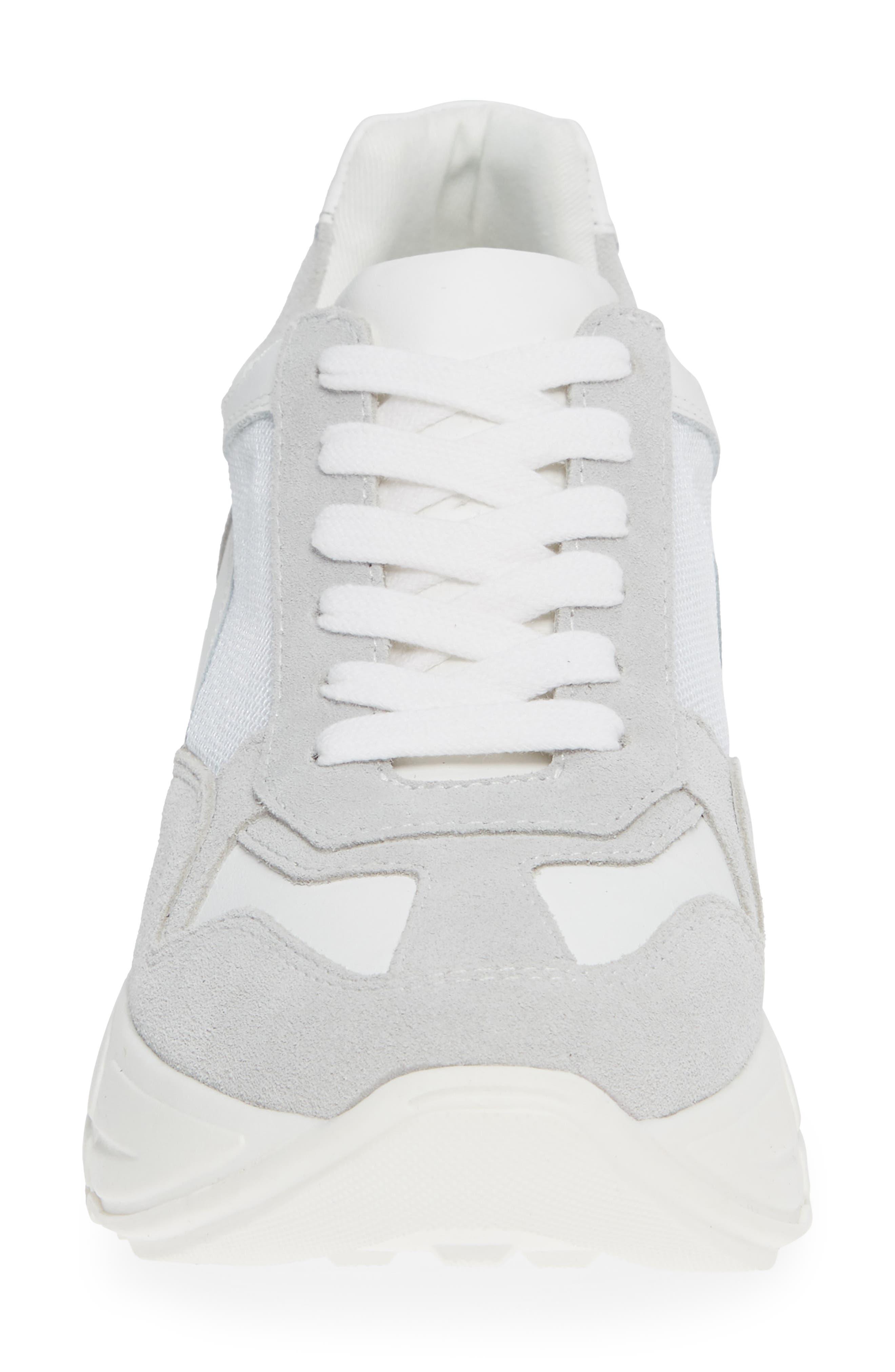 Memory Platform Wedge Sneaker,                             Alternate thumbnail 4, color,                             WHITE MULTI