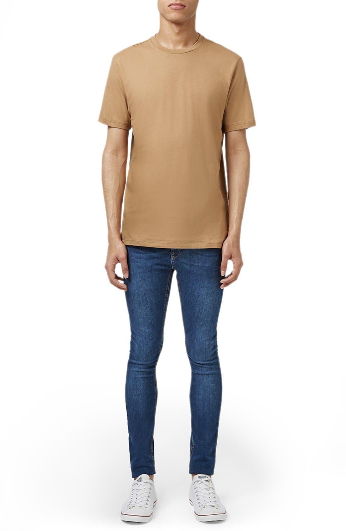 Slim Fit Crewneck T-Shirt,                             Alternate thumbnail 136, color,
